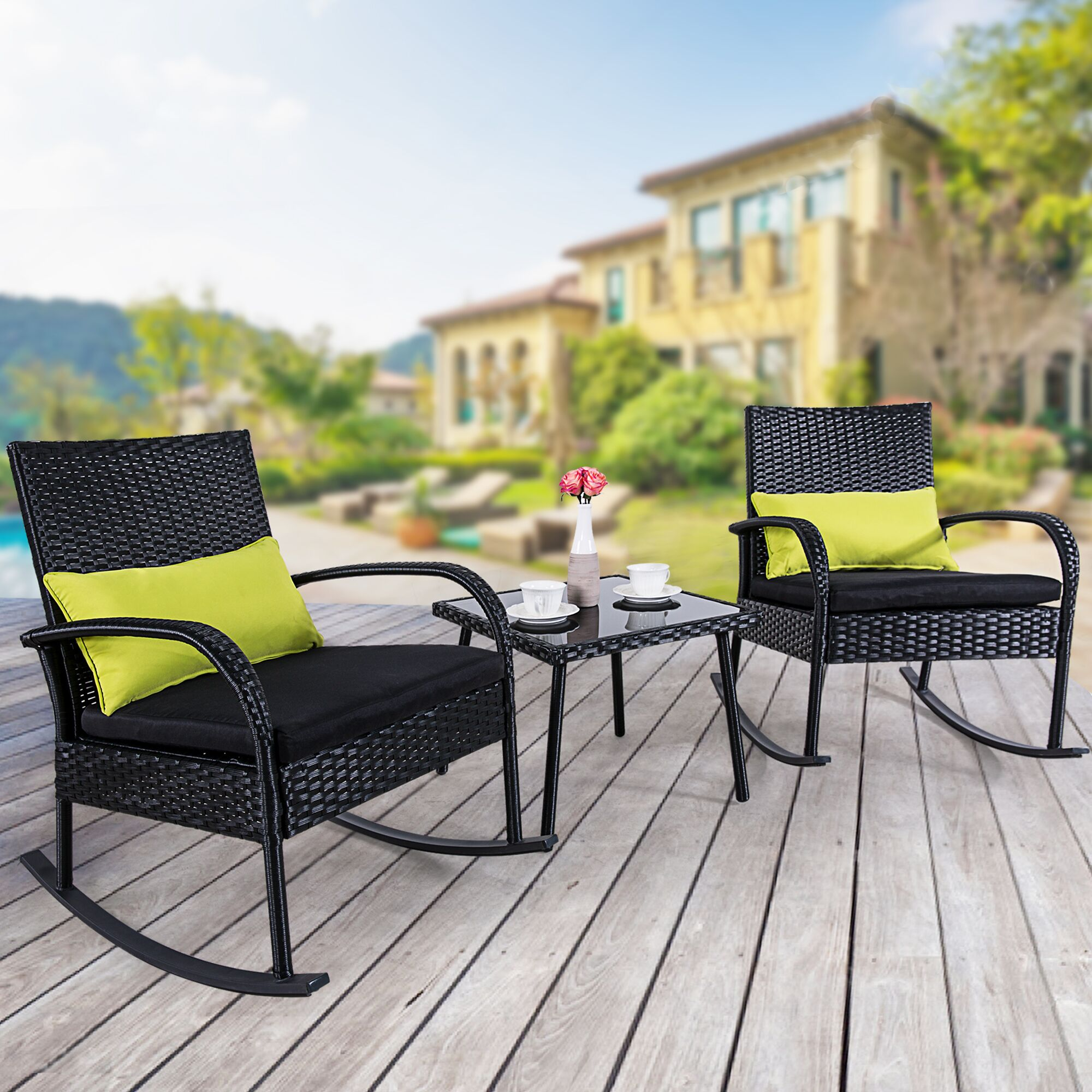 Imogen 3 Piece Rattan Seating Group with Cushion