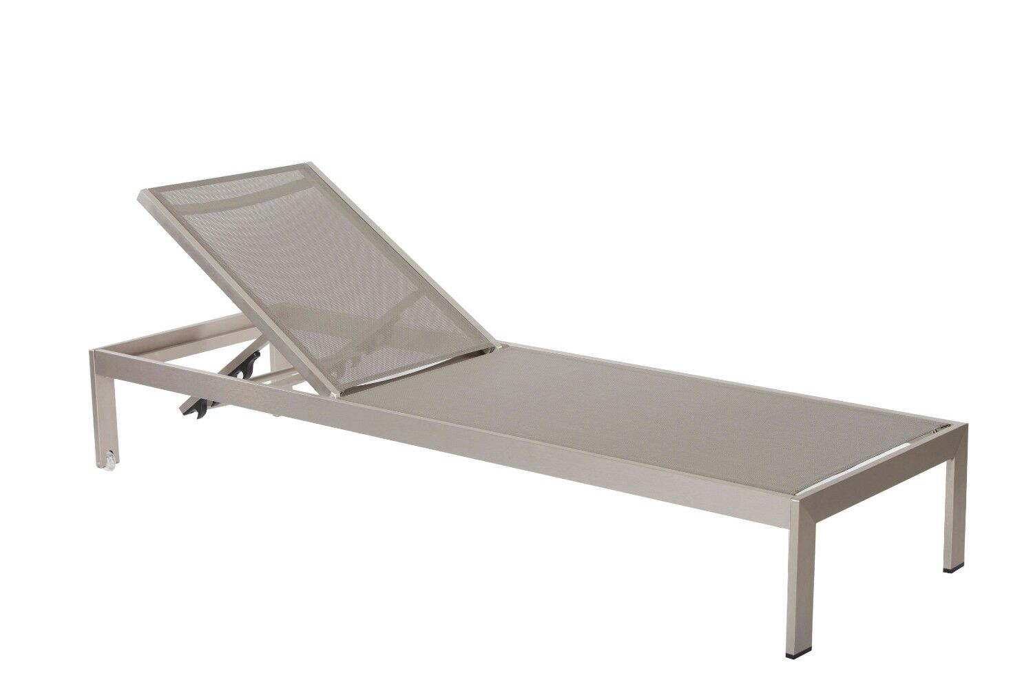 Laws Anodized Aluminum Reclining Chaise Lounge Color: Gray