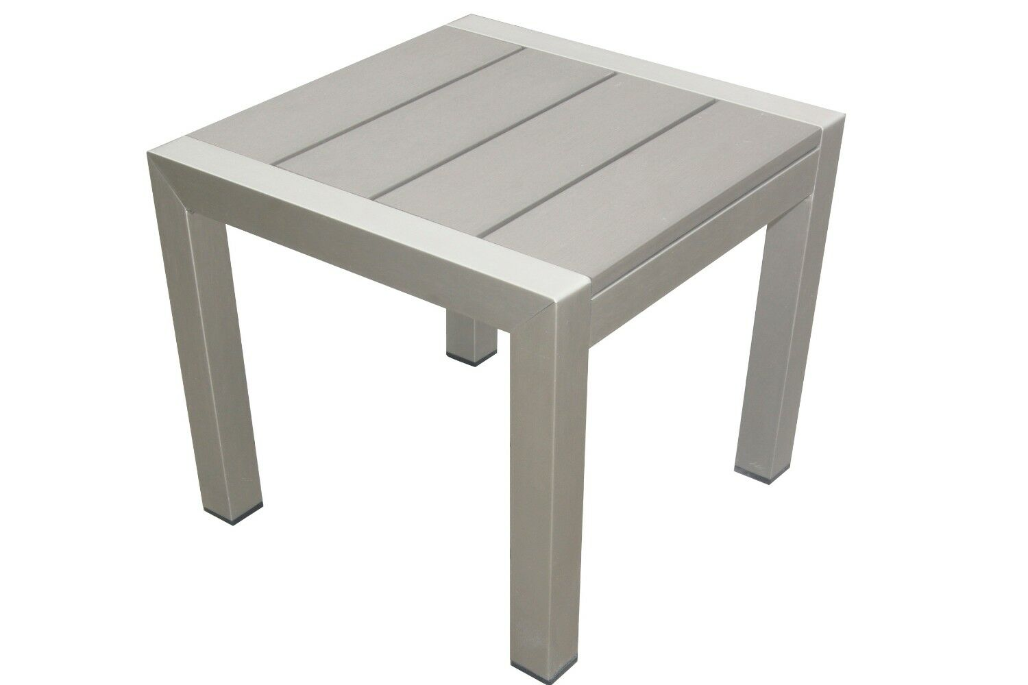 Lawler Highly Functional Easy Movable Outdoor Aluminum Side Table Color: Gray