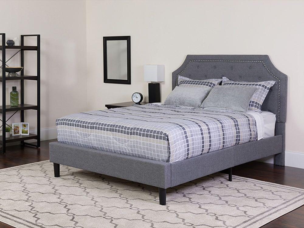Mikaela Upholstered Platform Bed Size: King, Color: Light Gray