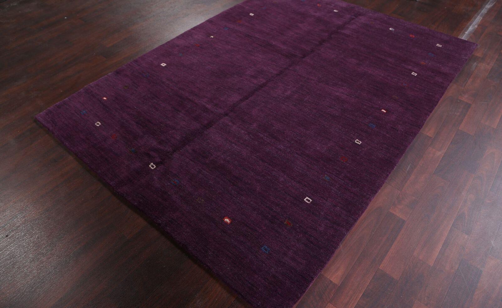 One-of-a-Kind Seidman Oriental Hand-Knotted Wool Purple Area Rug