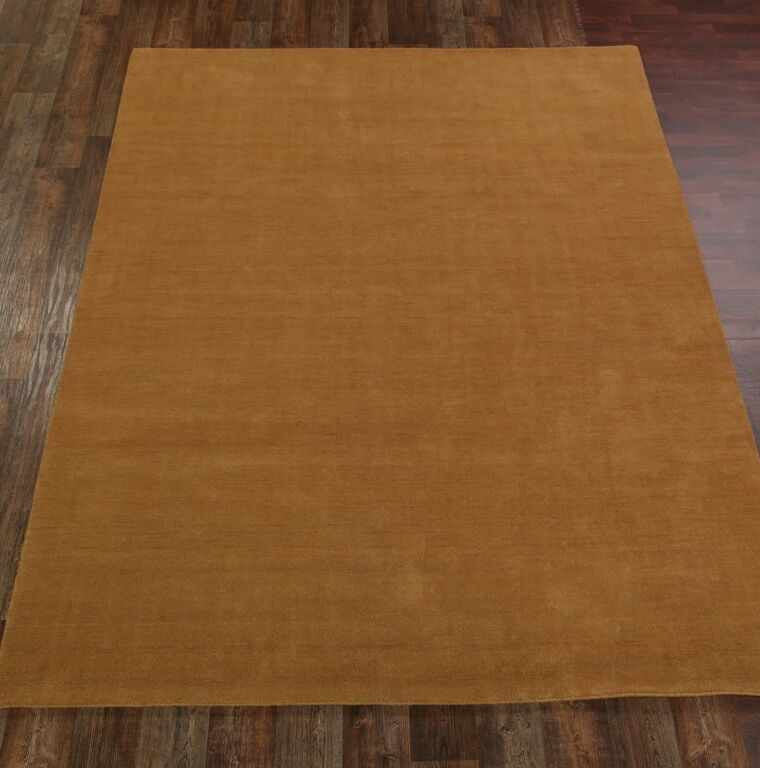 Fortune Hand-Knotted Wool Yellow Area Rug