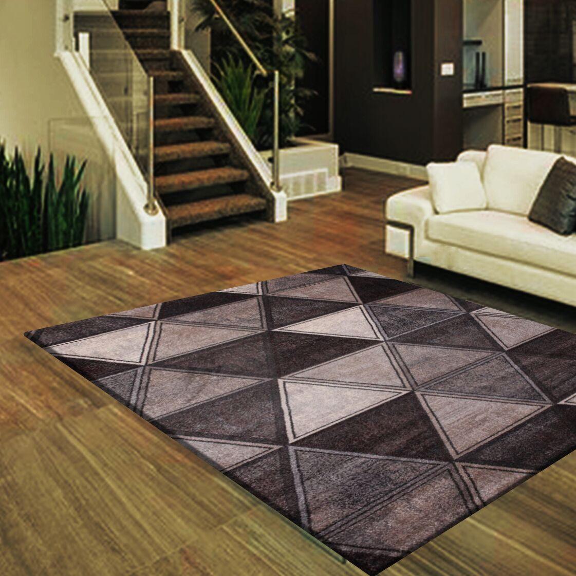 Cuvier Large Gray/Ivory Area Rug