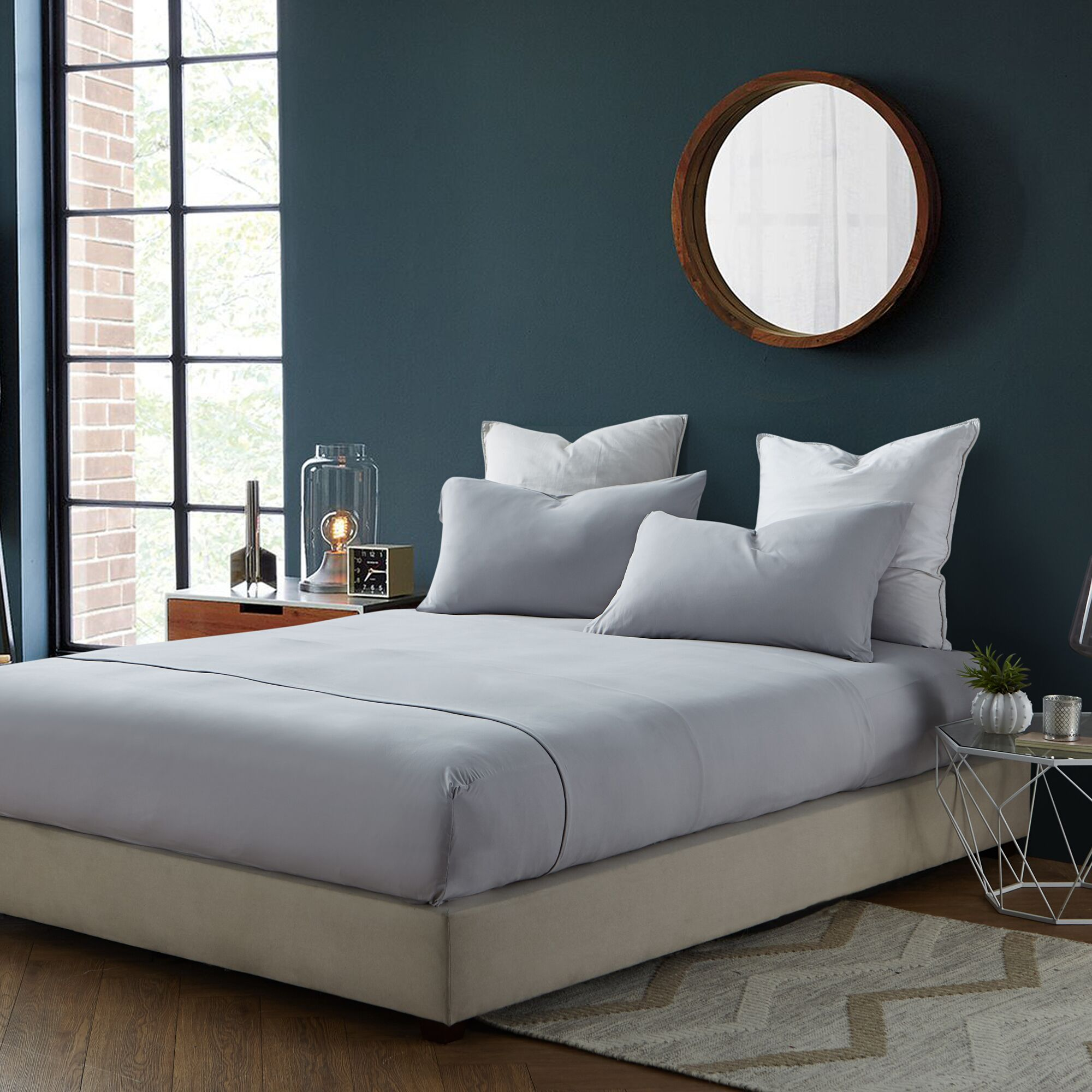 Romeo Sheet Set Size: Queen, Color: Tundra Gray