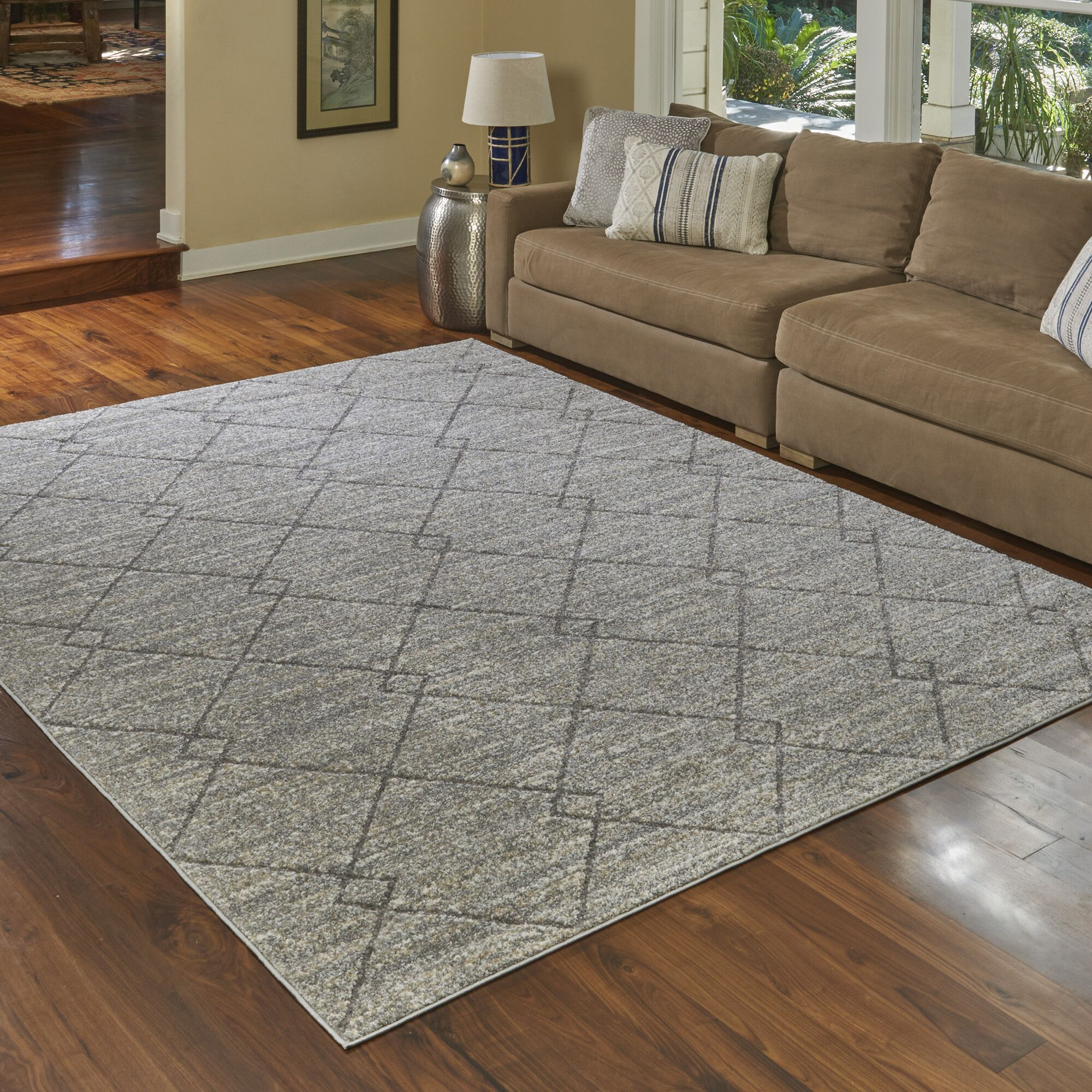 Seaview New Style Gray Area Rug Rug Size: Rectangle 5'3