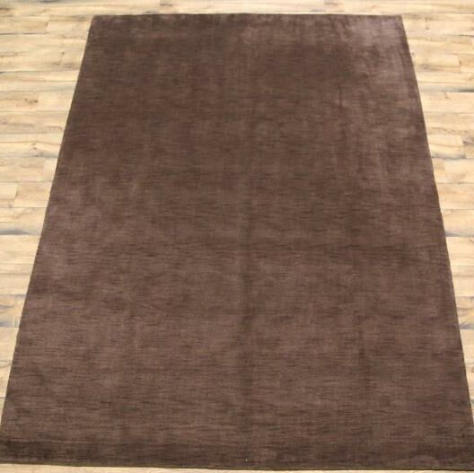 Fortune Oriental Hand-Knotted Wool Brown Area Rug