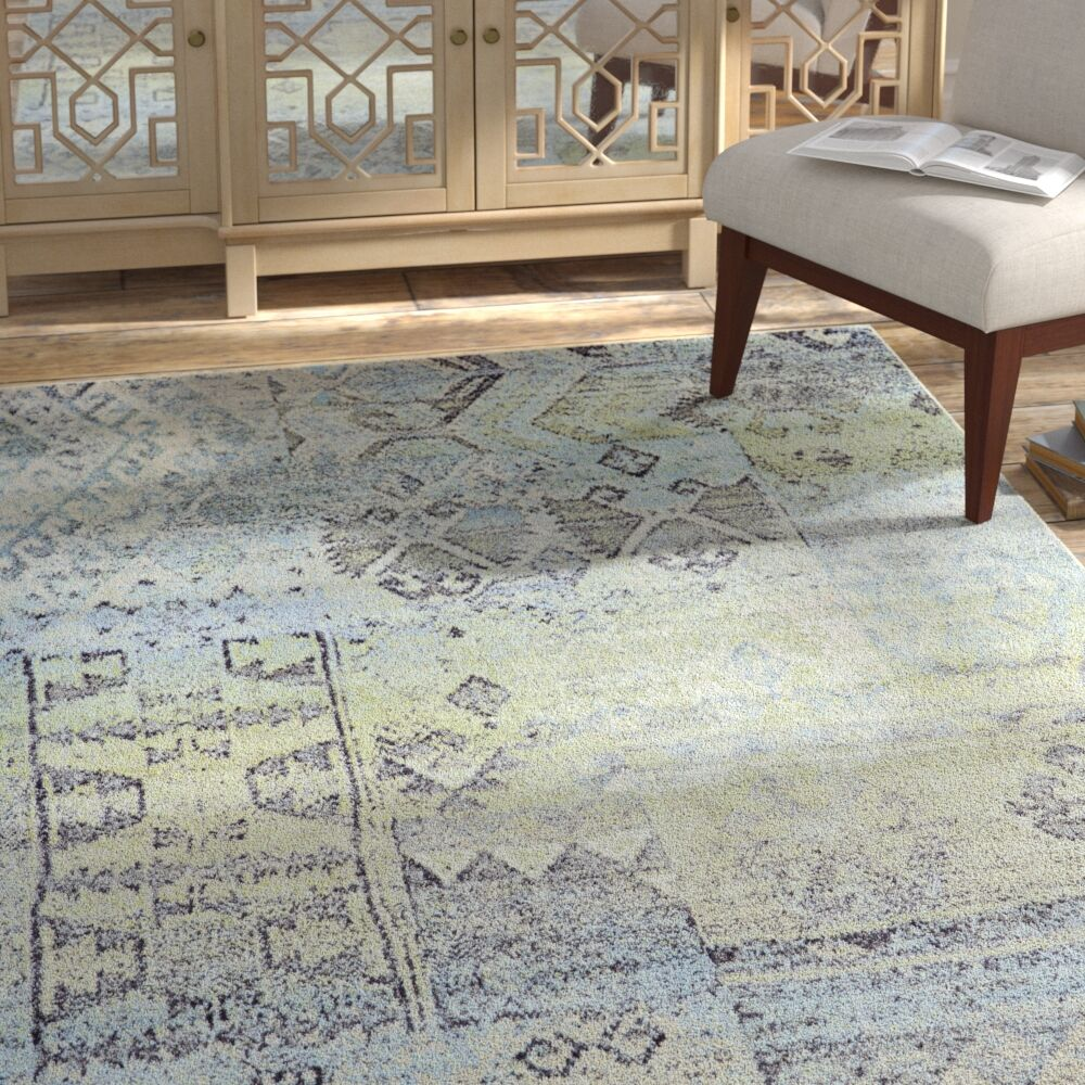 Mint/Taupe Area Rug Rug Size: Rectangle 1'8