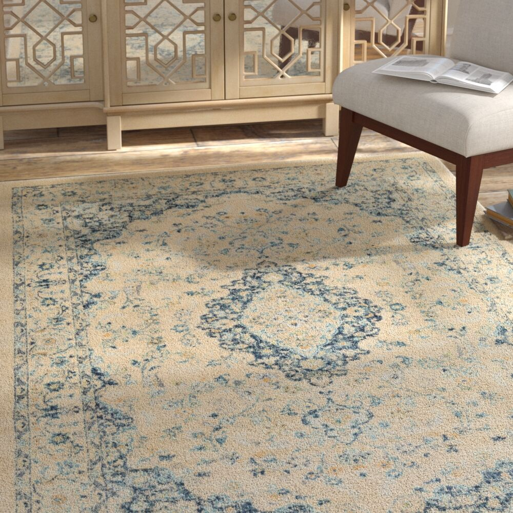 Weiss Vintage Floral Cream Area Rug Rug Size: Rectangle 7'10