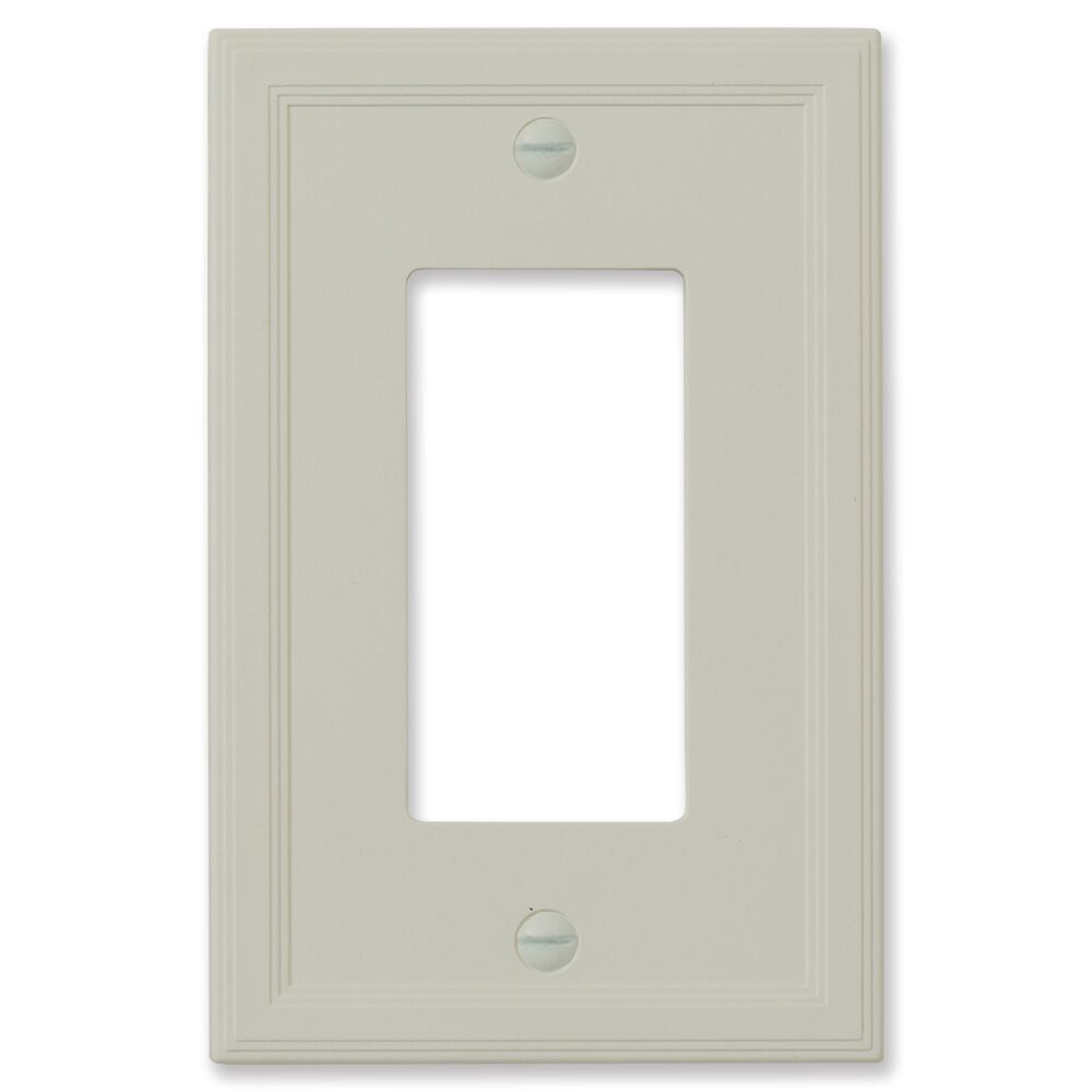 Cornice Insulated Wall Light Switch or Socket Plate Finish: Gray