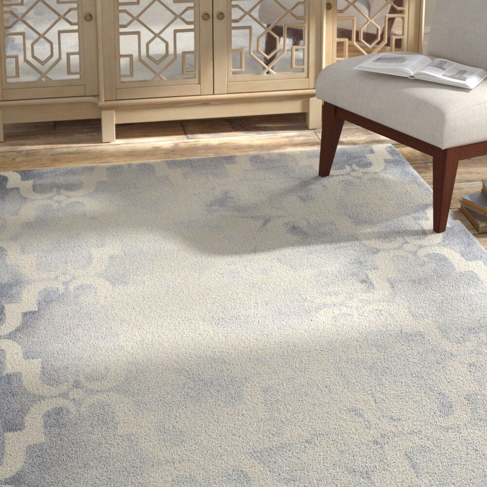 Hand-Tufted Dip Dye Gray/Ivory Area Rug Rug Size: Rectangle 4' x 6'