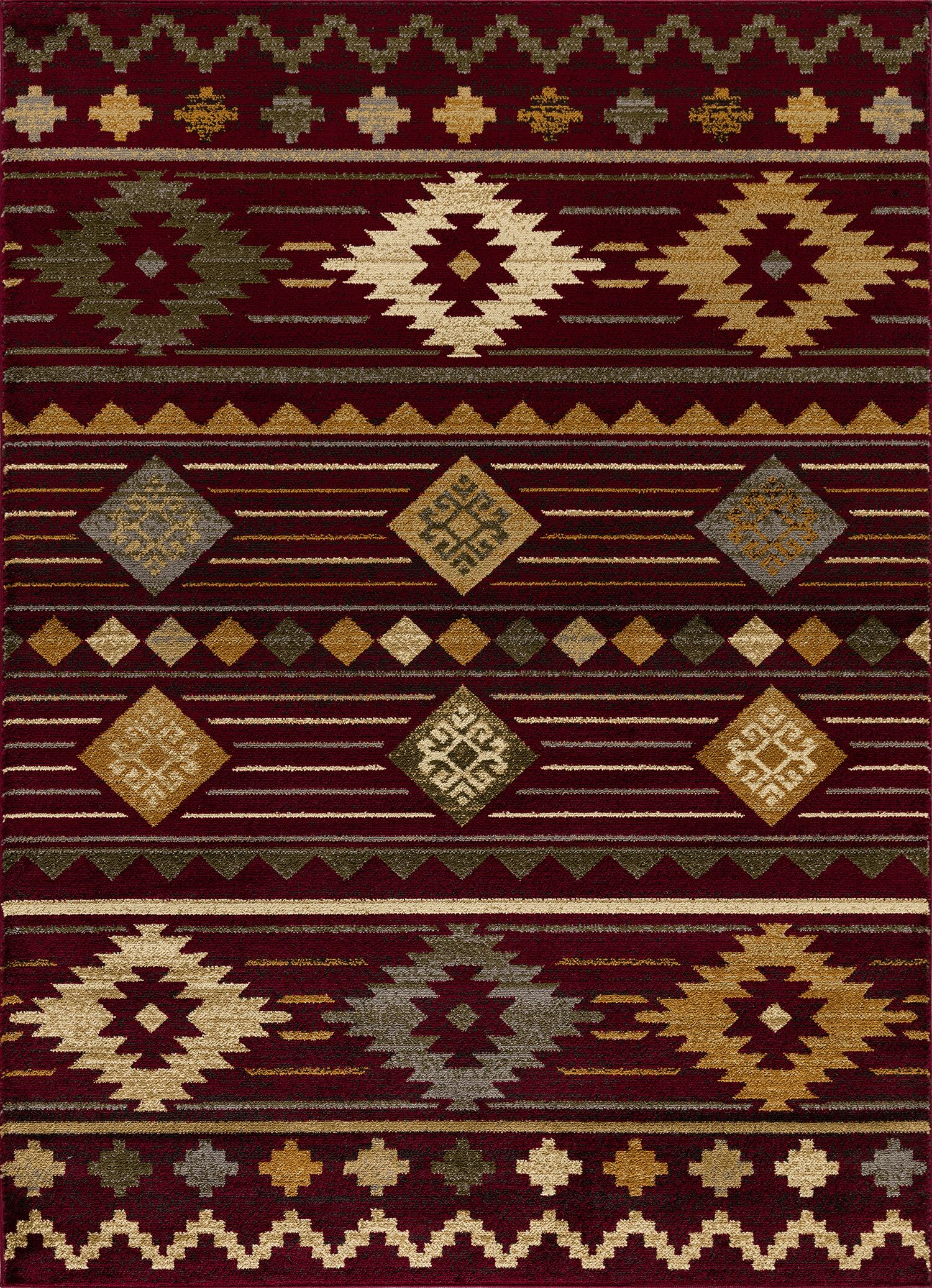 Alessio South Western Burgundy Area Rug Rug Size: Rectangle 8' x 10'