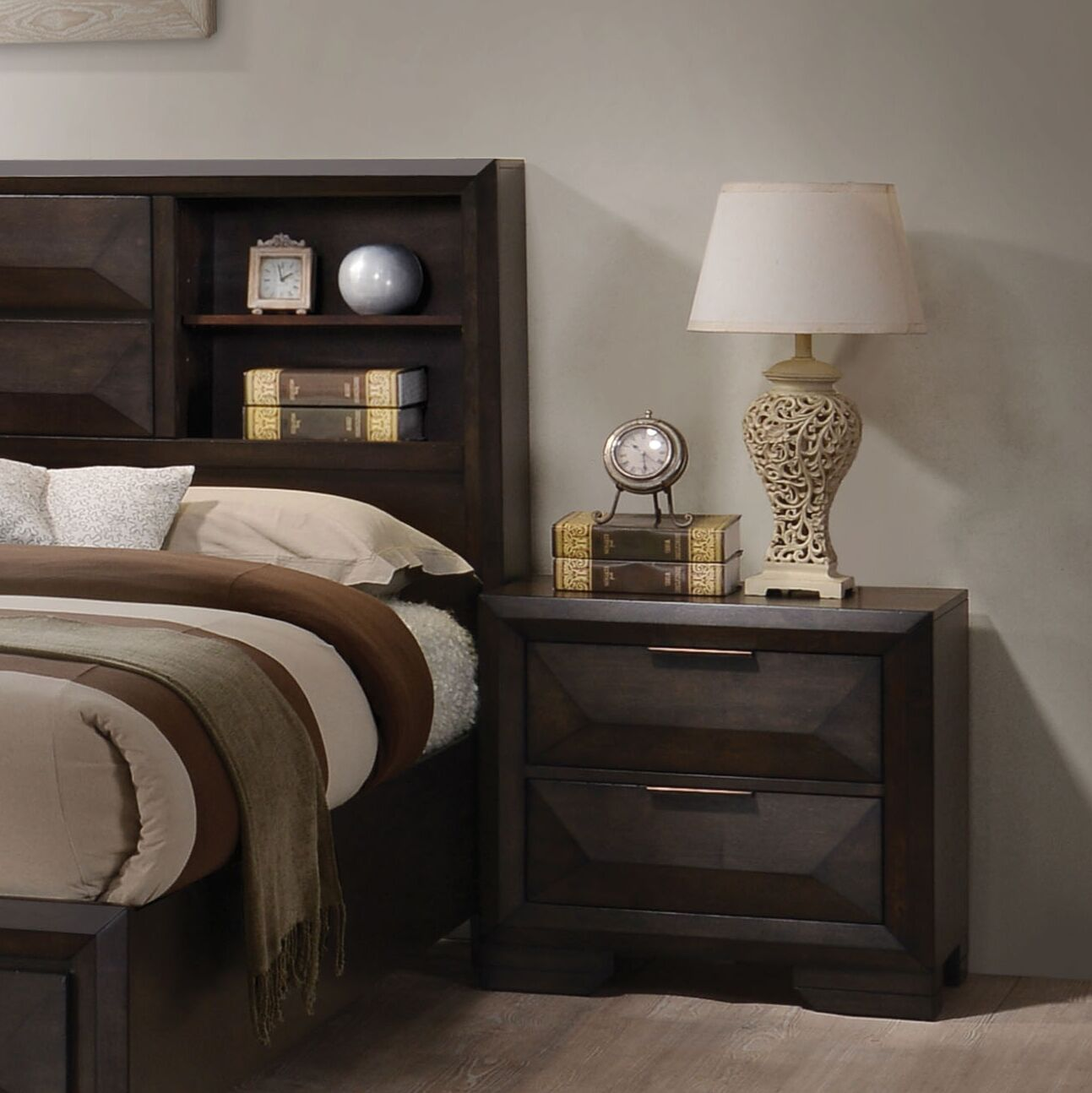 Lancelot 2 Drawer Nightstand