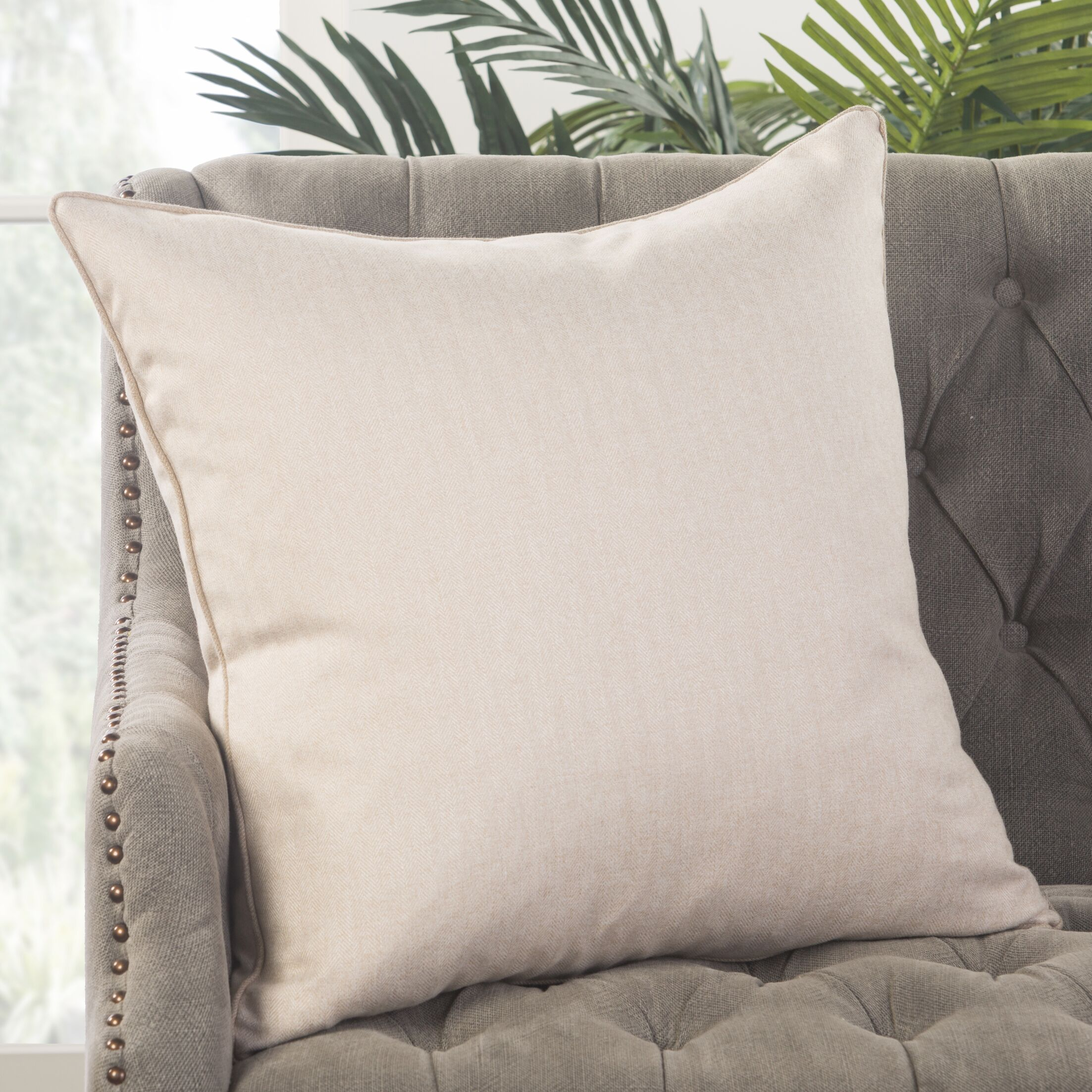 Woods Hole Throw Pillow Fill Material: Down