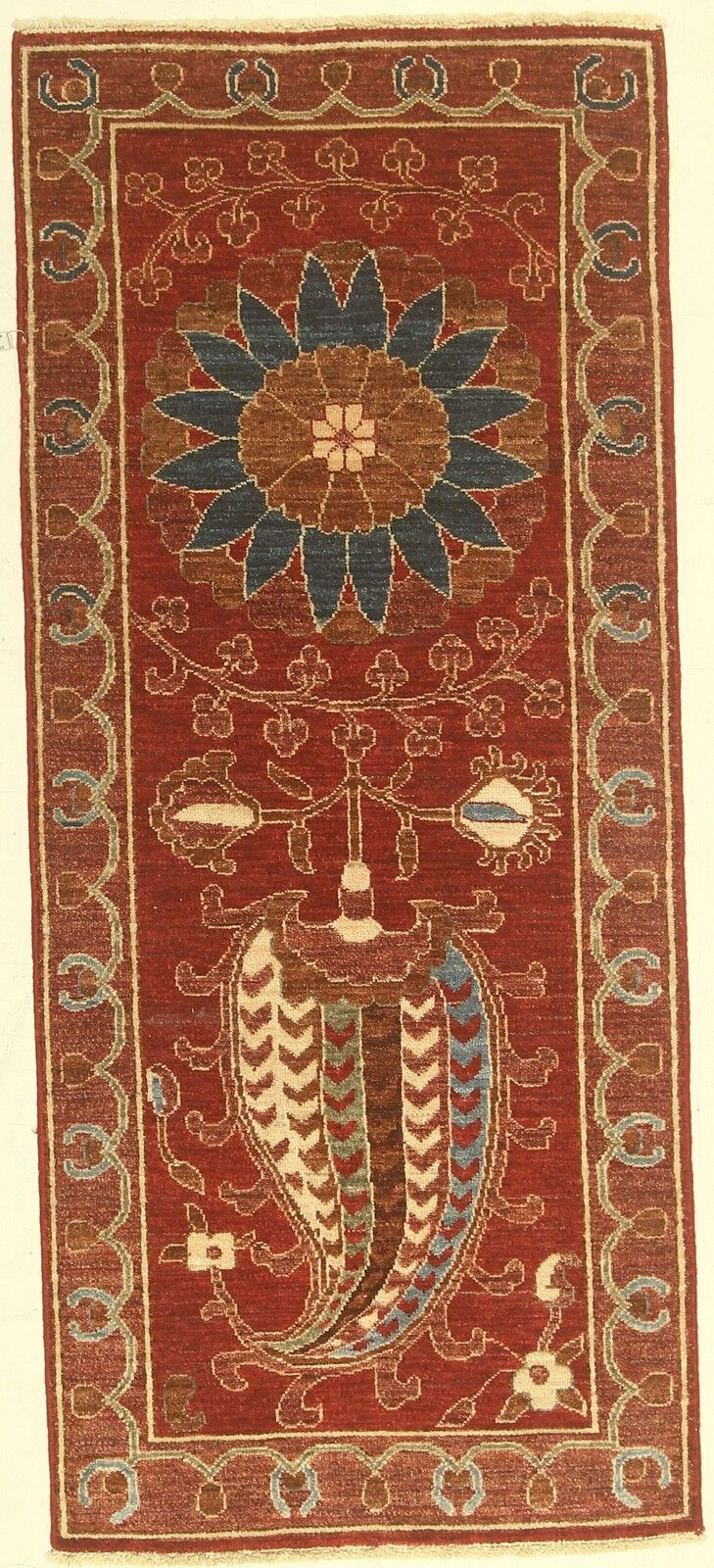 One-of-a-Kind Corbin Hand-Knotted Wool Red Area Rug