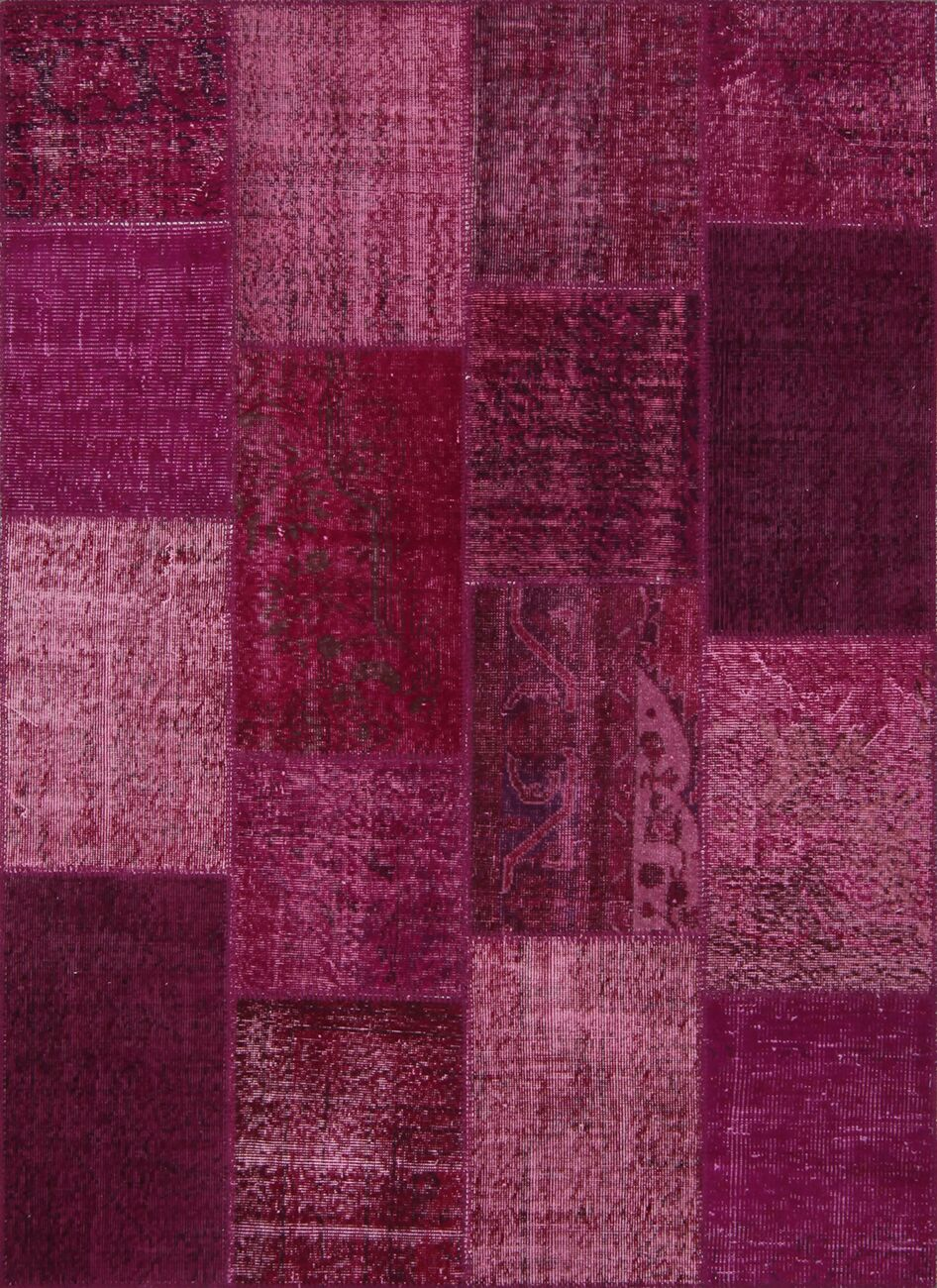 Lizabeth Antique Patchwork Hand-Knotted Pink Area Rug Rug Size: Rectangle 5'3