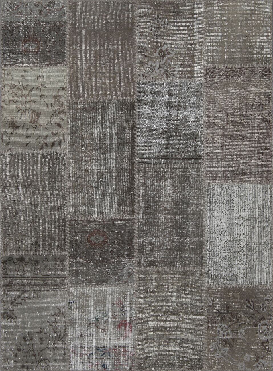 Aleta Antique Patchwork Hand-Knotted Gray Area Rug Rug Size: Rectangle 5'3