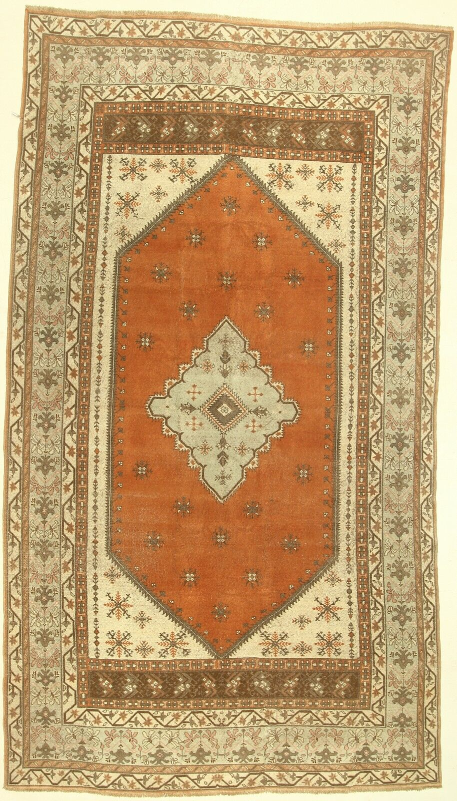 One-of-a-Kind Cordelia Hand-Knotted Wool Orange Area Rug