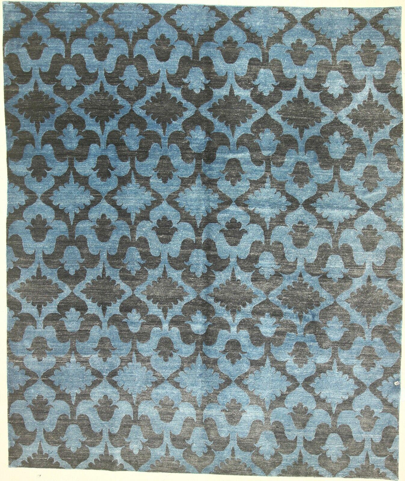 One-of-a-Kind Cornelia Hand-Knotted Blue Area Rug