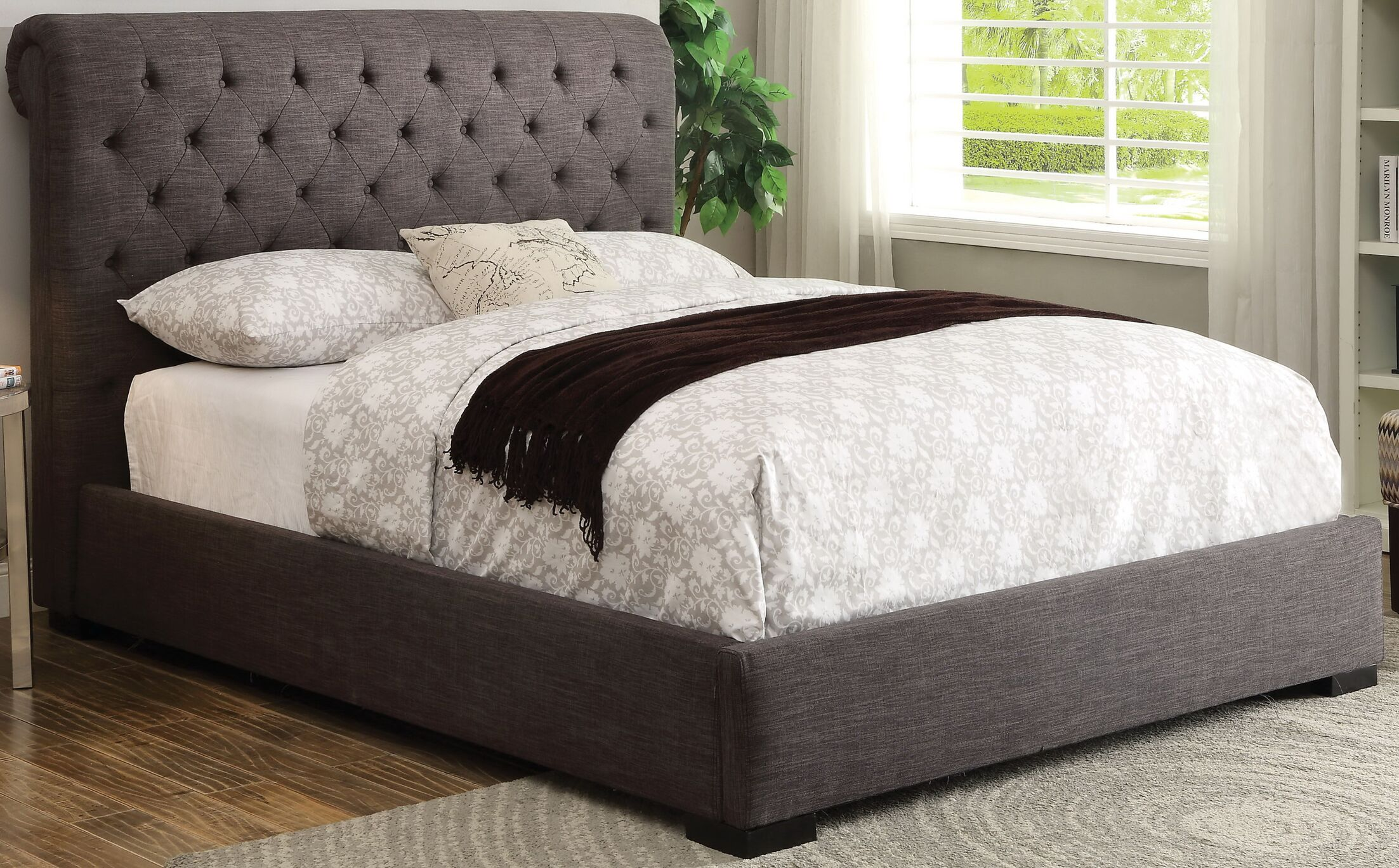 Melton Queen Upholstered Panel Bed