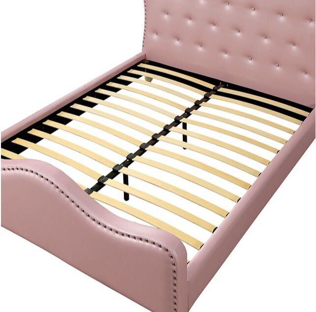 Trahan Upholstered Platform Bed Size: Twin, Color: Pink