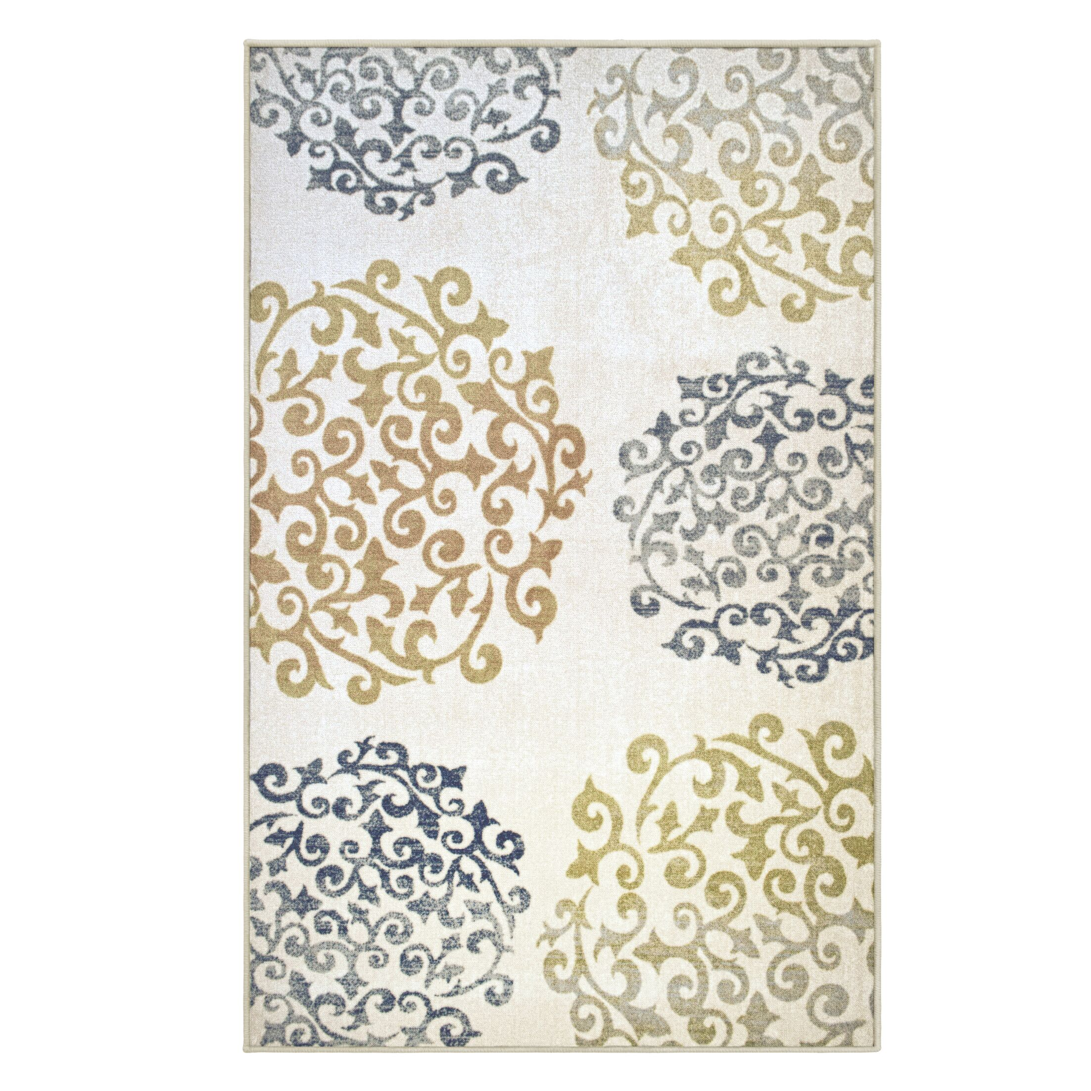 Lueras Printed Non-Slip Beige Area Rug Rug Size: Rectangle 5' x 8'