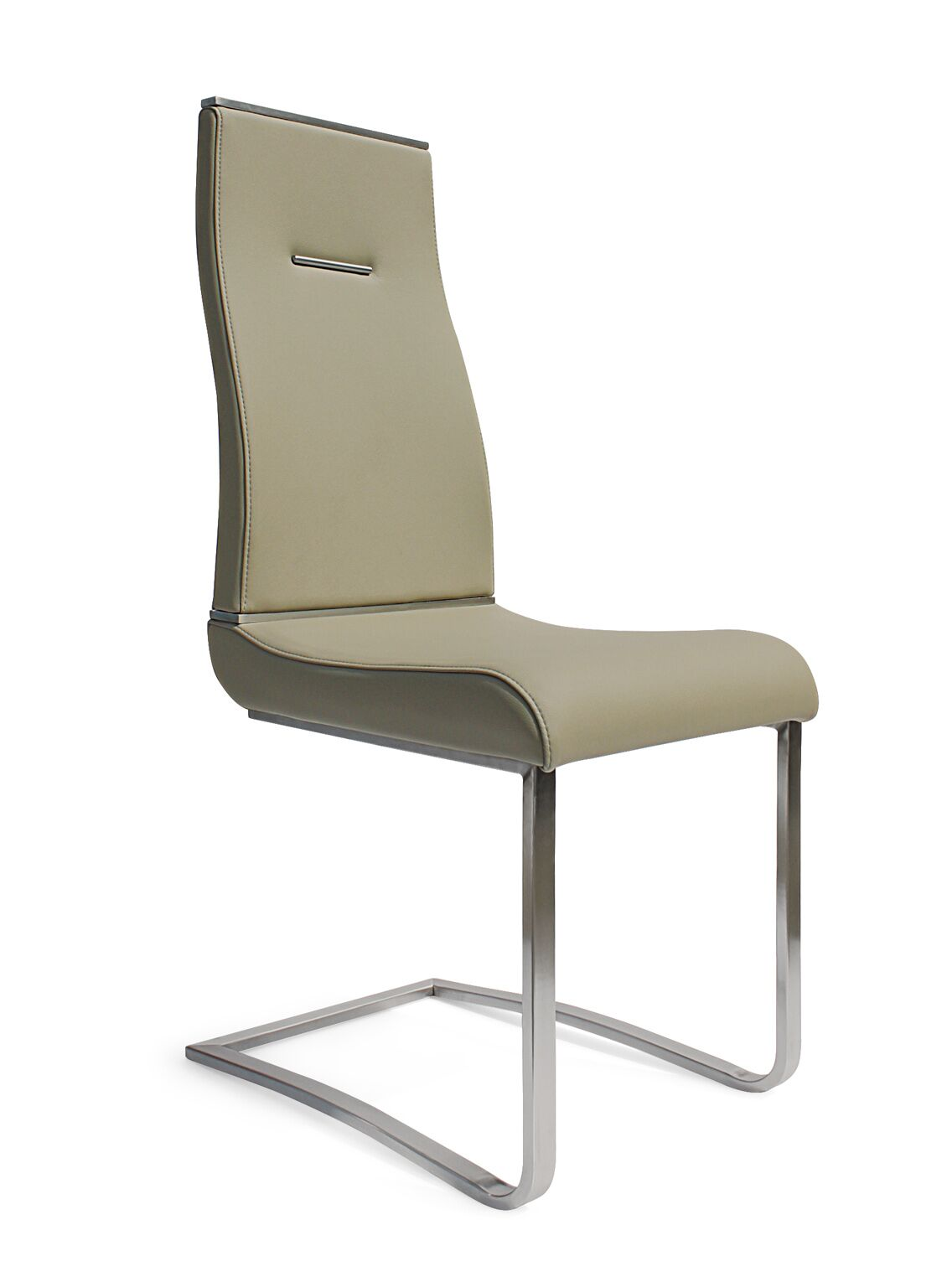 Mcclain Upholstered Dining Chair (Set of 2) Leg Color: Chrome, Upholstery Color: Gray