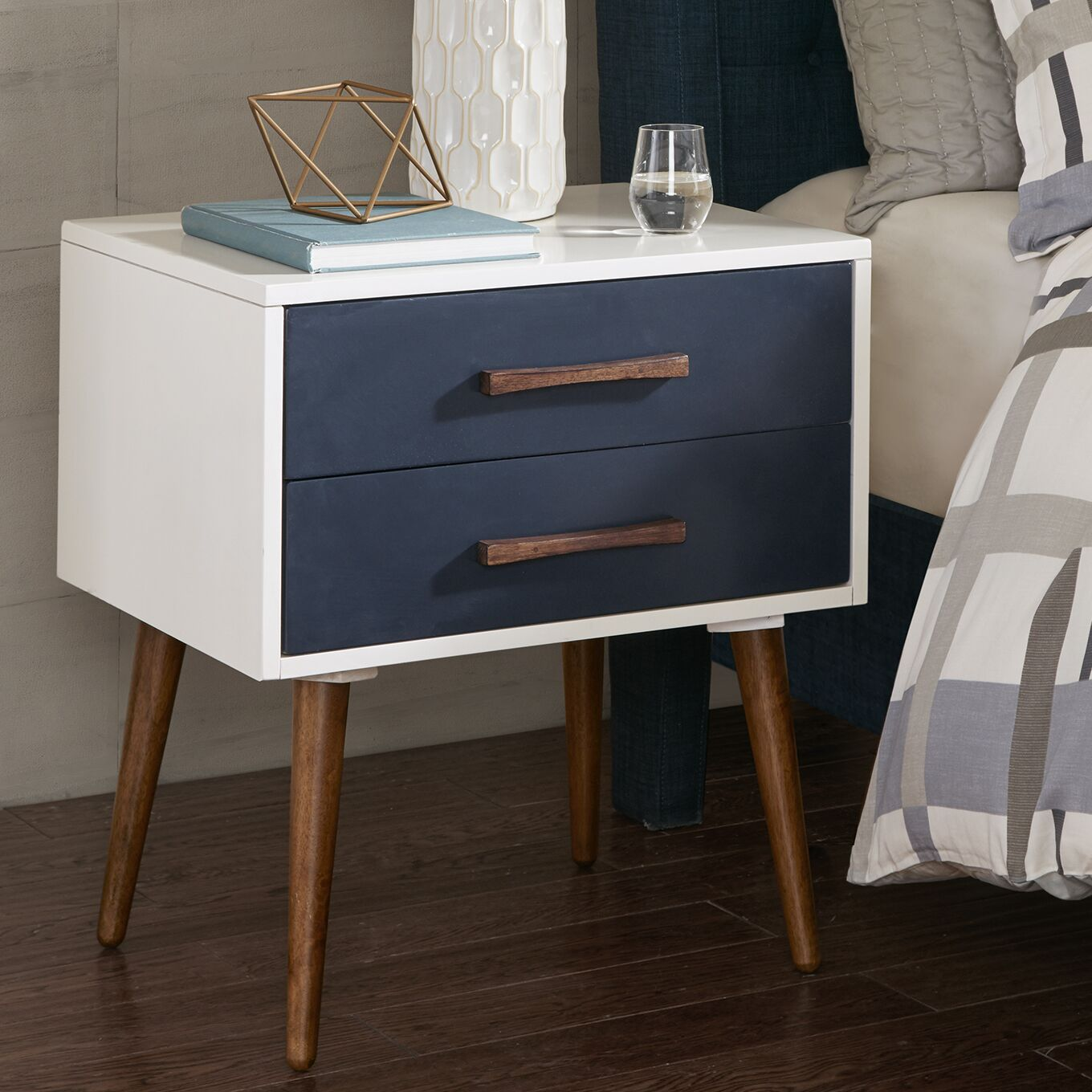 Branden Storage 2 Drawer Nightstand