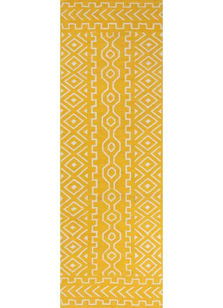 Cristopher Hand-Woven Wool Old Gold/Light Gray Area Rug Rug Size: Runner 2'6