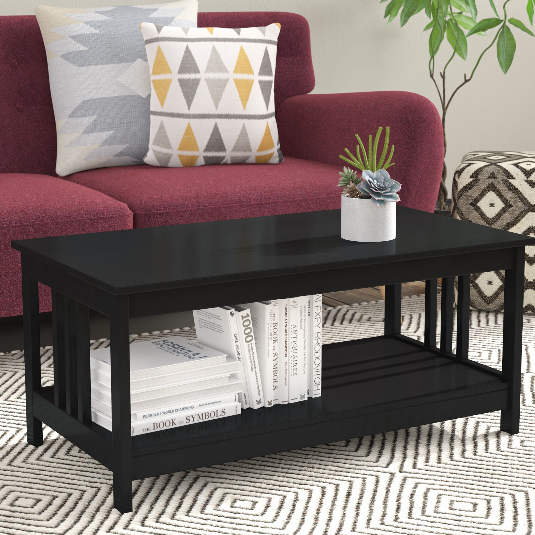 Cade Coffee Table Color: Black