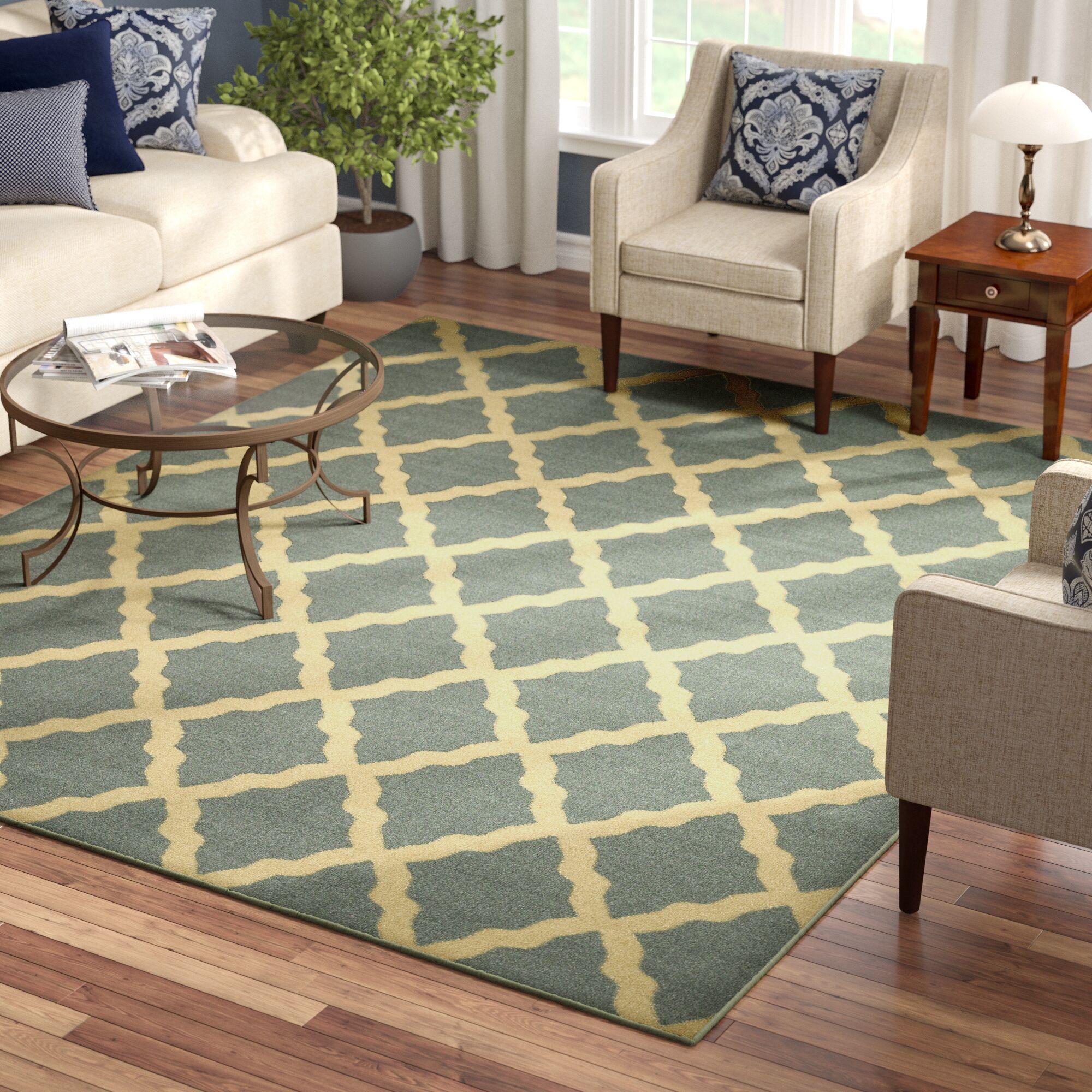Bunyard Moroccan Trellis Design Sage Green Area Rug Rug Size: Rectangle 8'2