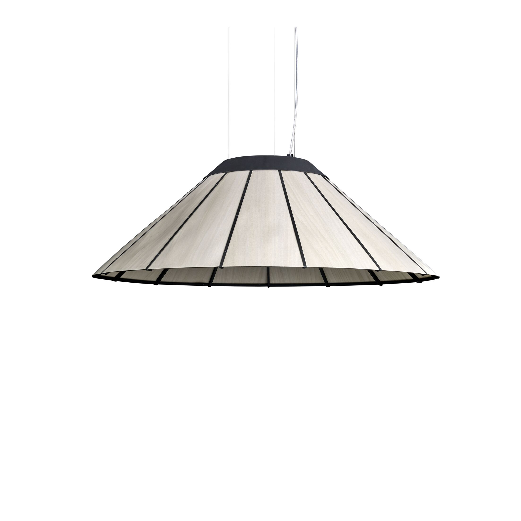 LED Cone Pendant Shade Color: Gray, Size: Large