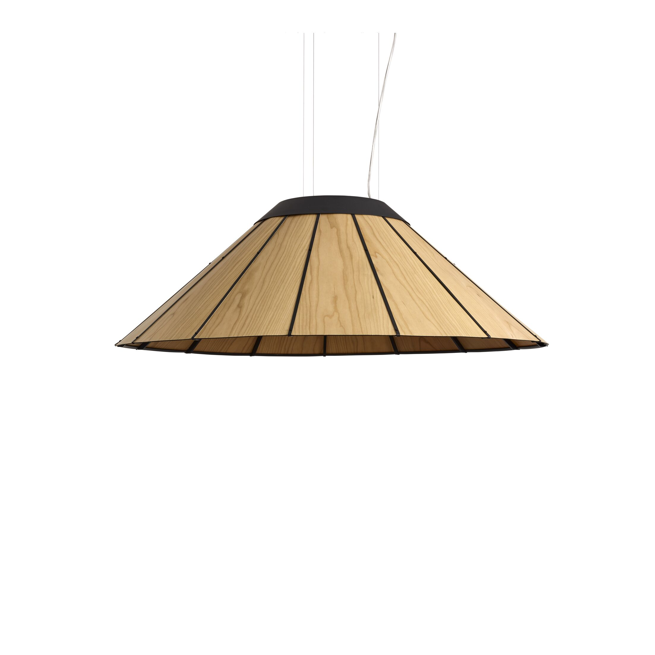 LED Cone Pendant Size: Medium, Shade Color: Natural Cherry