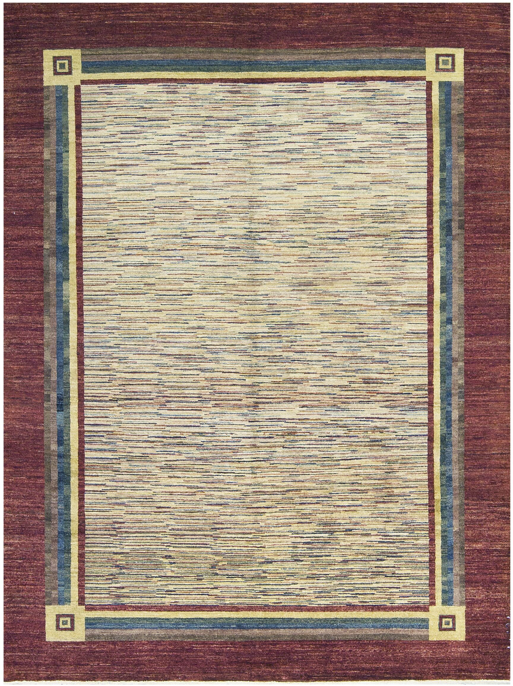 Cute One Of A Kind Hand Knotted Wool Wine Area Rug