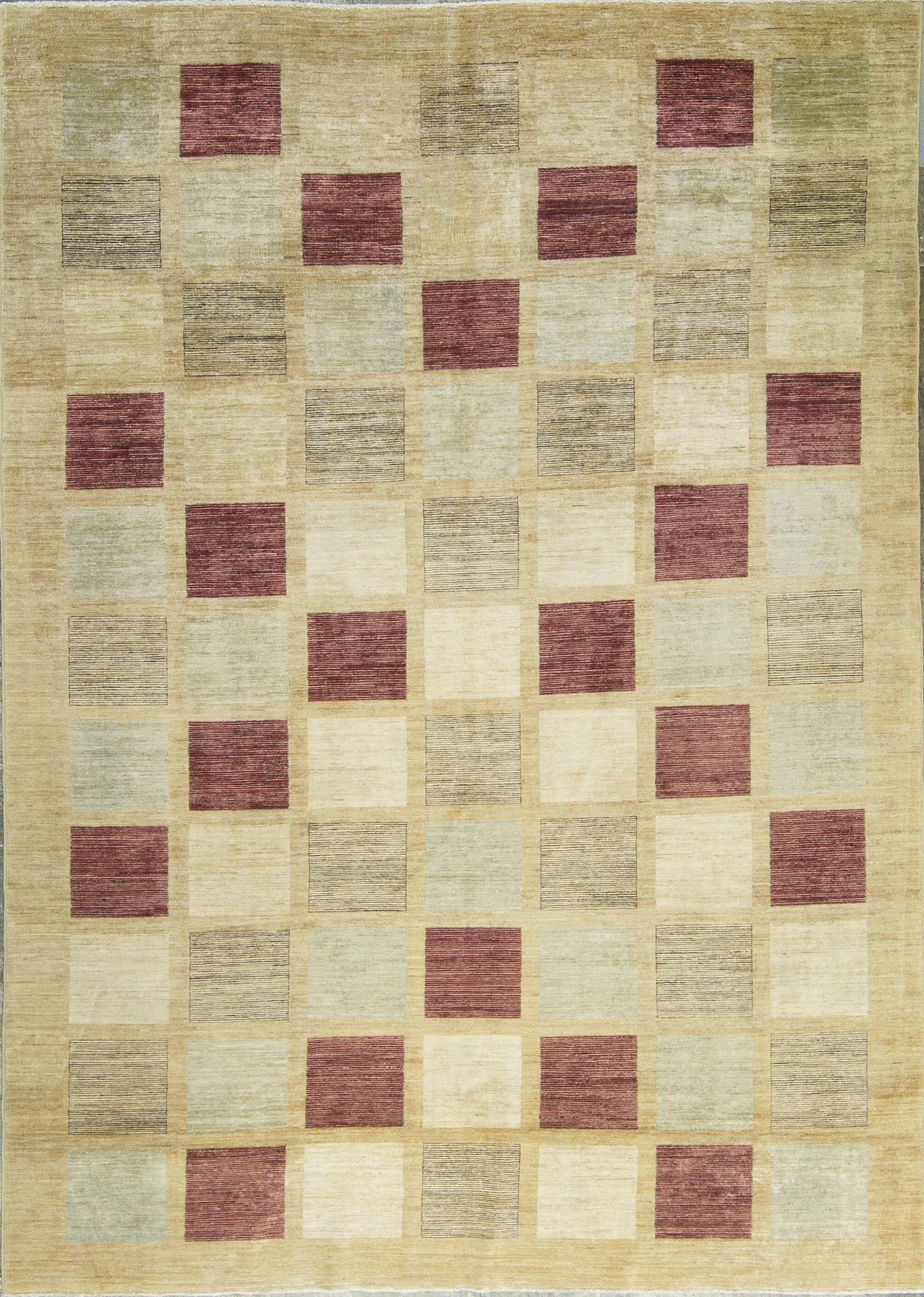 One-of-a-Kind Hand-Knotted Wool Beige Area Rug