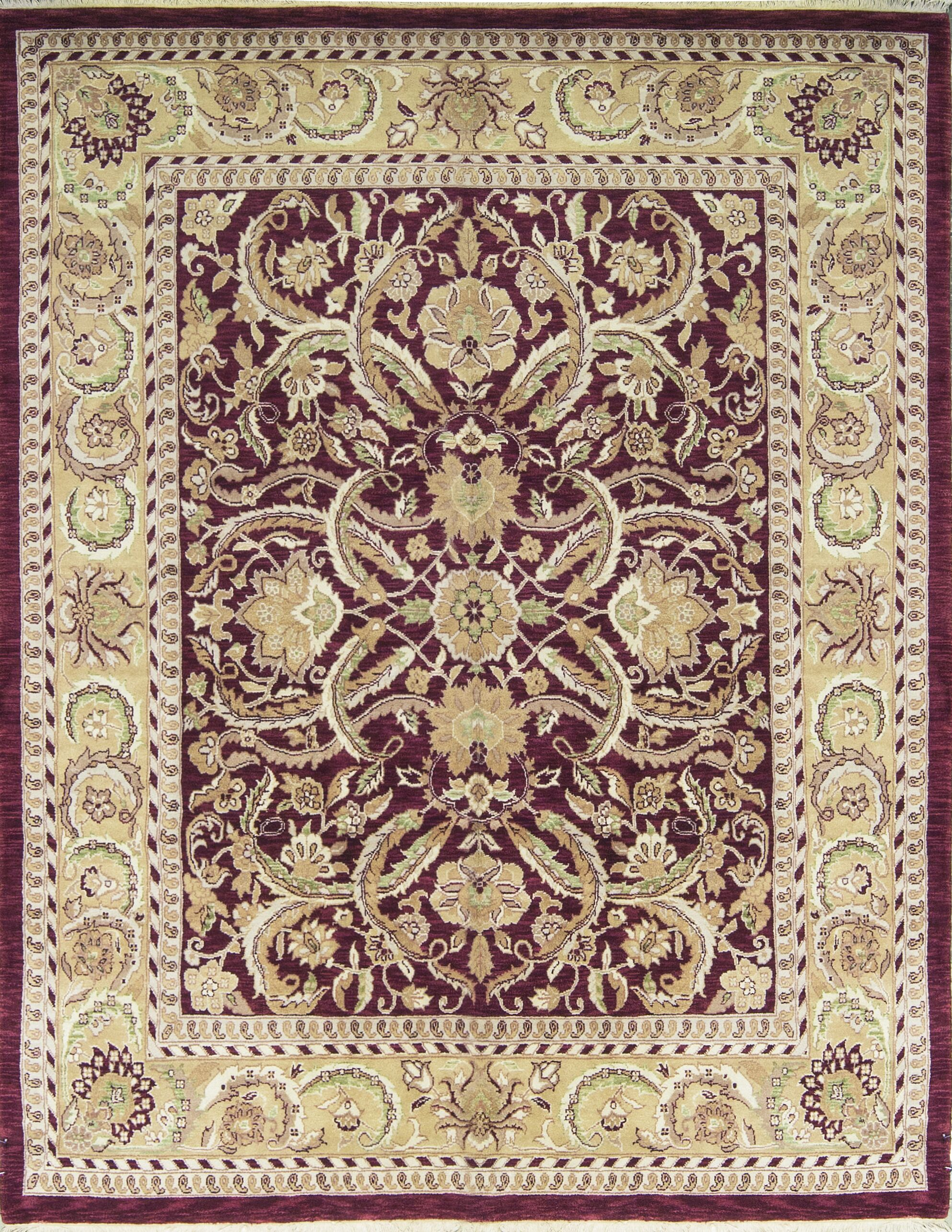 Lancaster One-of-a-Kind Hand-Knotted Wool Wine Area Rug