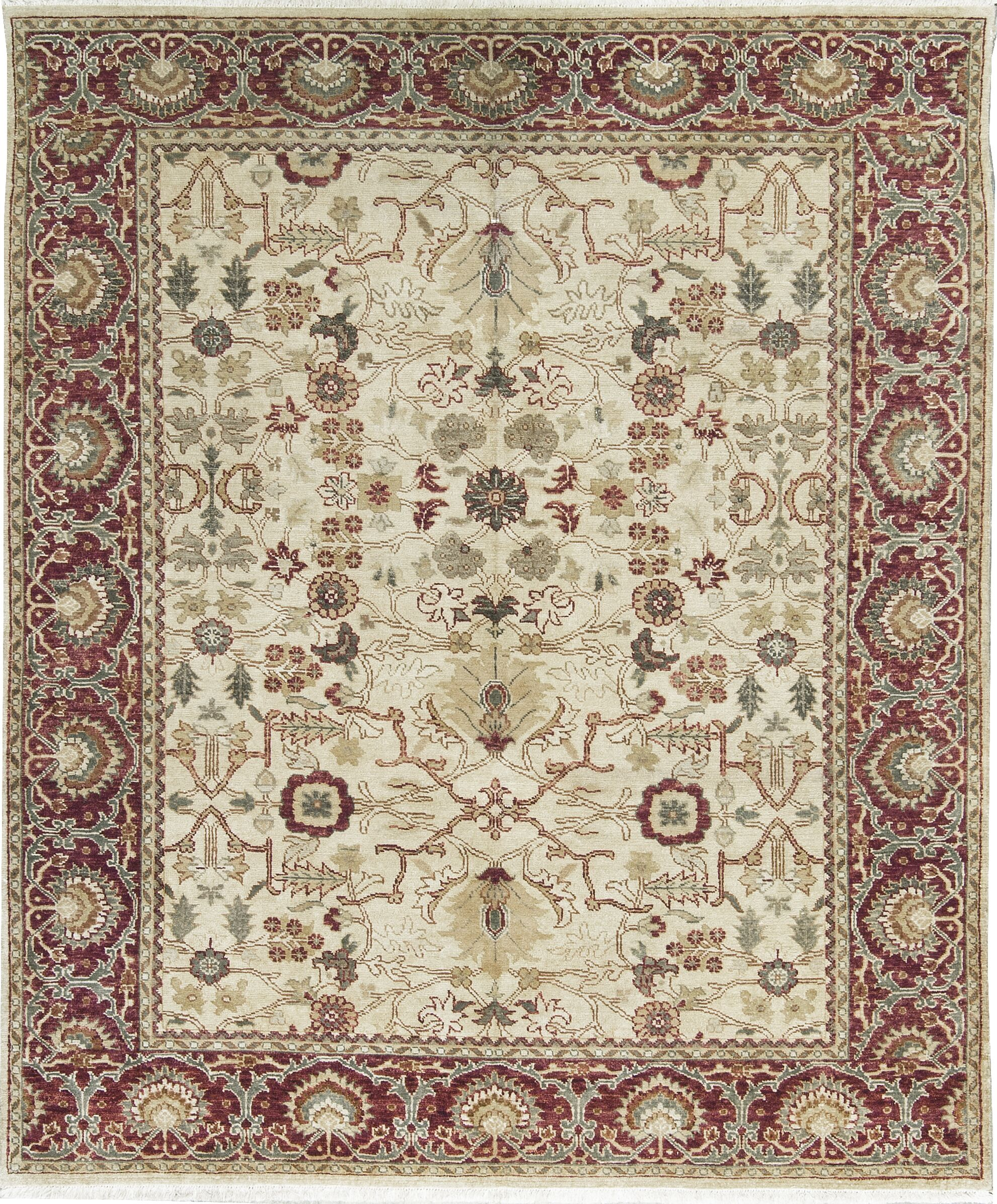 Templeton One-of-a-Kind Hand-Knotted Wool Beige Area Rug