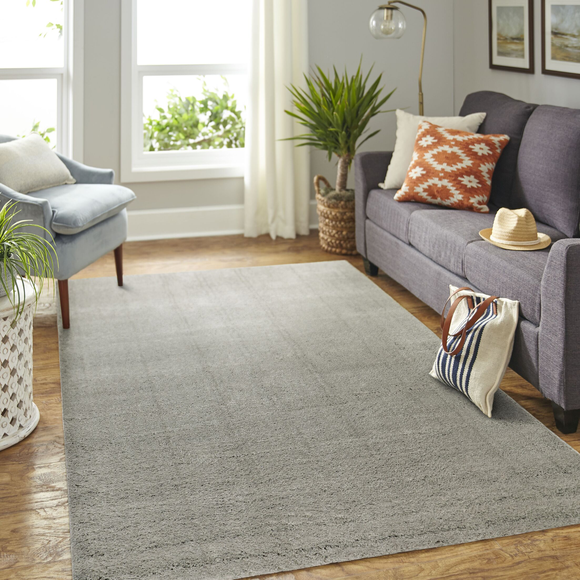 Marisa Gray Area Rug Rug Size: Rectangle 5' x 7'