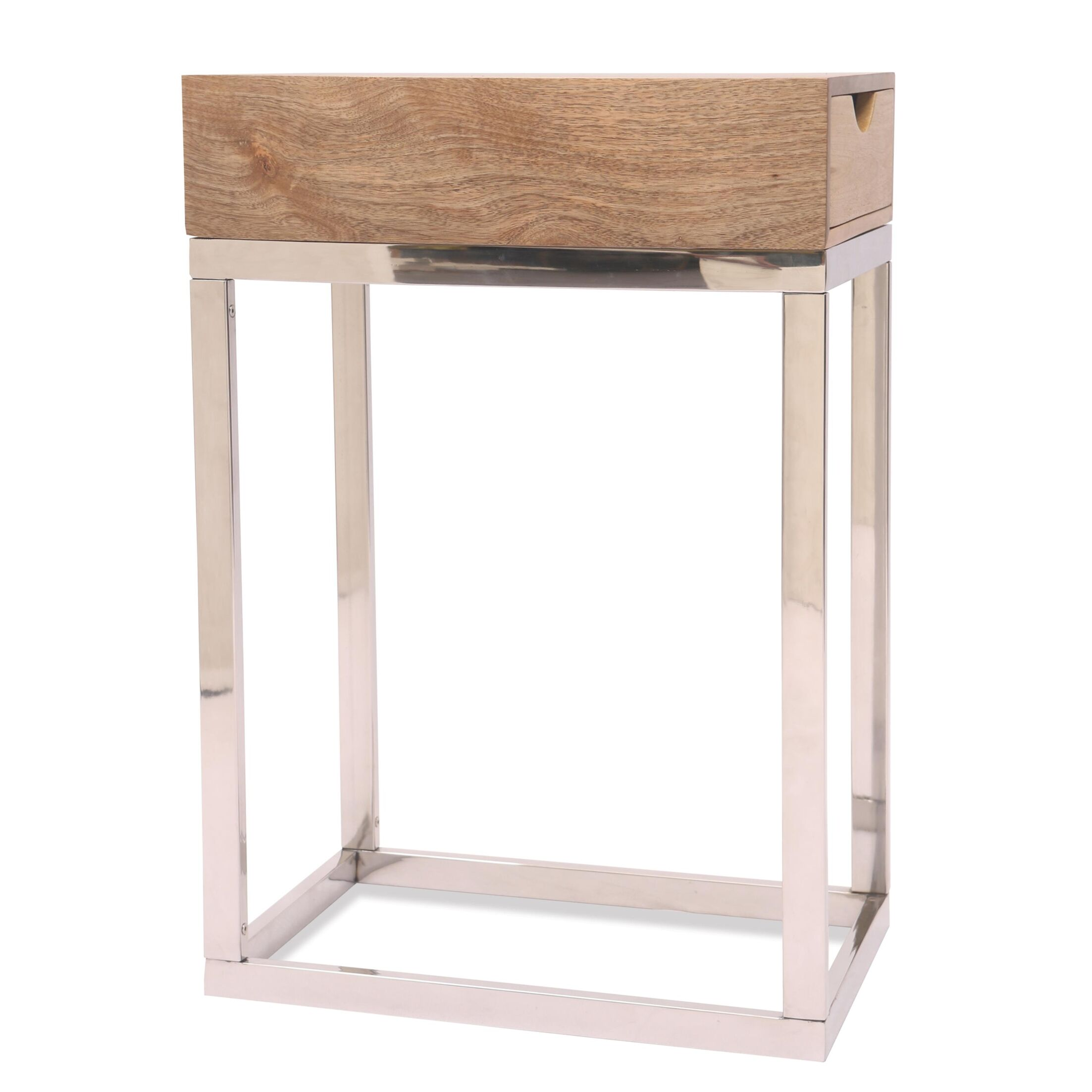 Cloud End Table Color: Natural Acacia