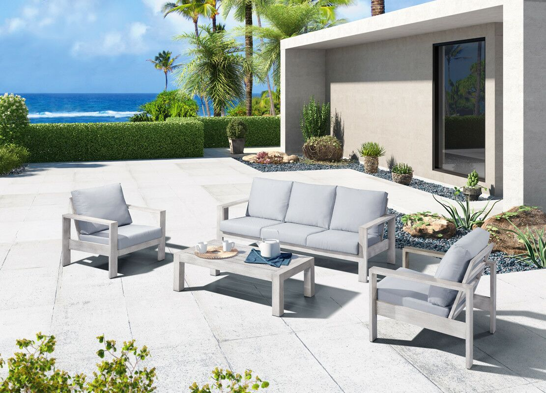 Sinclair Outdoor 4 Piece Sofa Seating Group