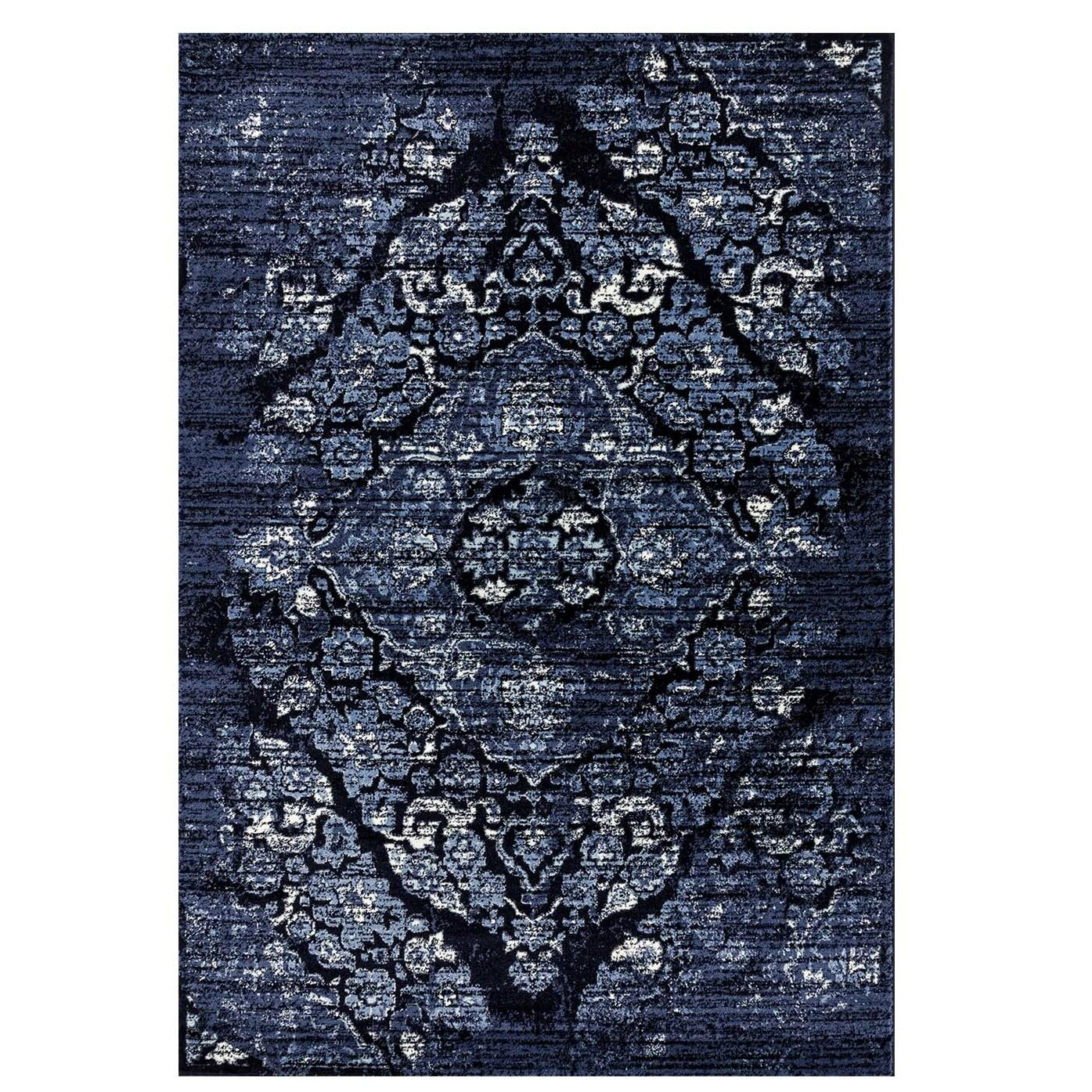 Caudill Traditional Navy Area Rug Rug Size: Rectangle 3'11