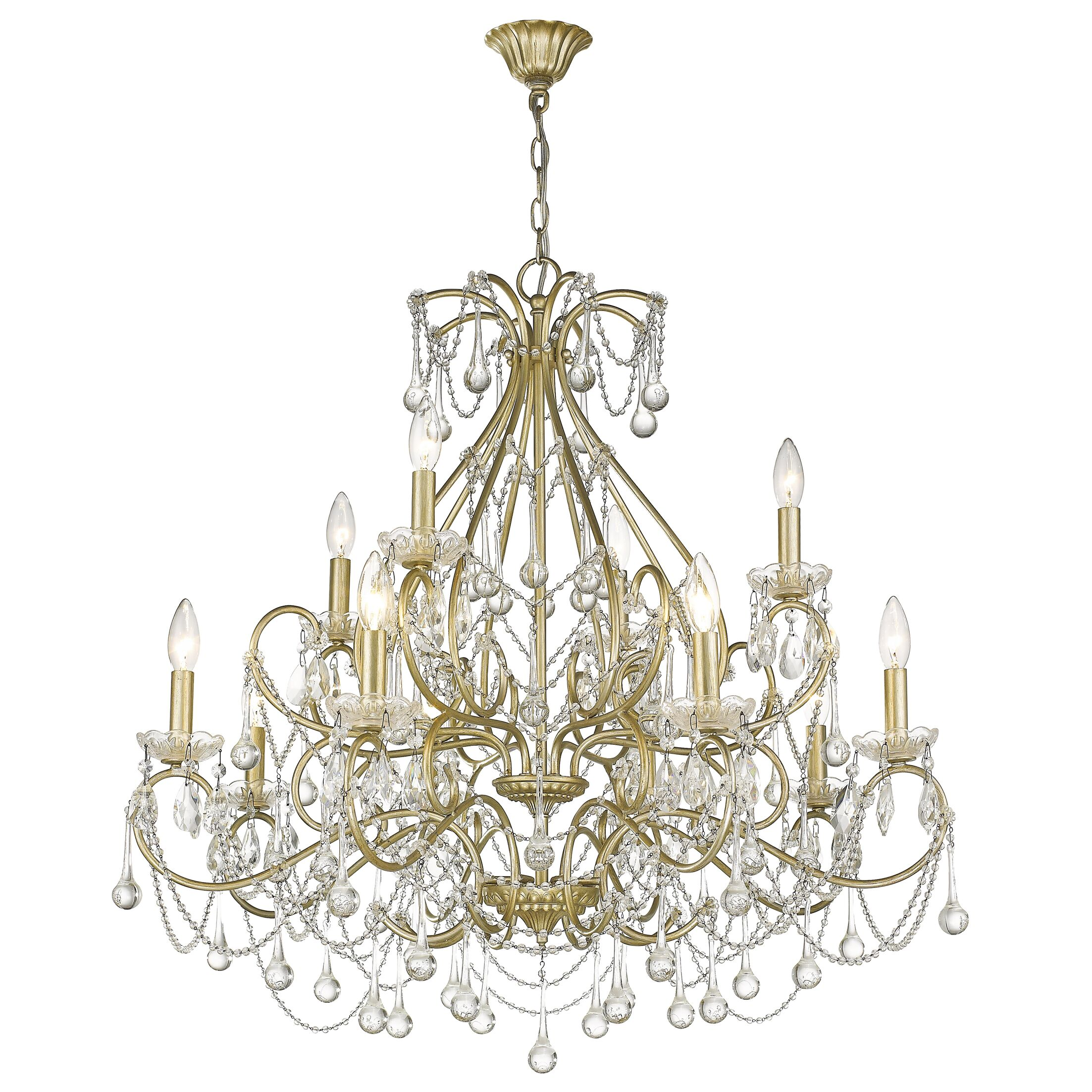 Frey 12-Light Candle Style Chandelier