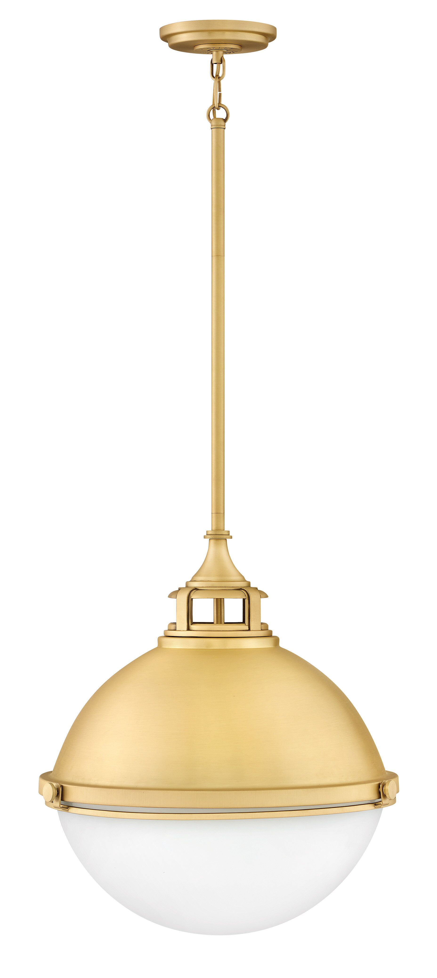 Fletcher 2-Light Globe Pendant Size: 19.75