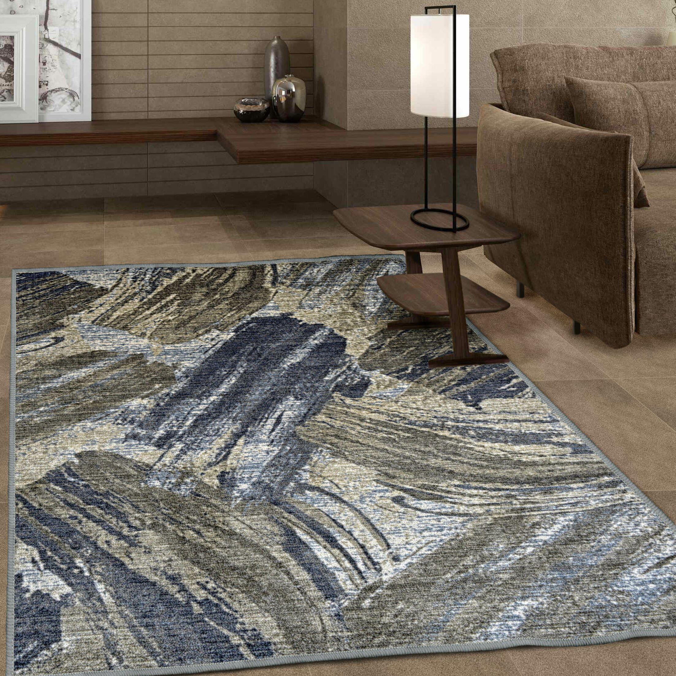 Brannon Printed Non-Slip Gray Area Rug Rug Size: Rectangle 8' x 10'