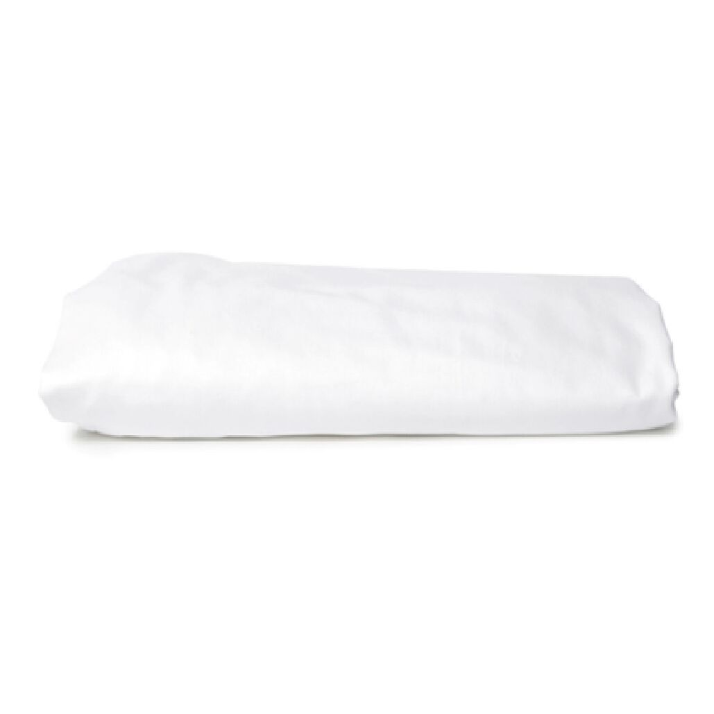 Sol 600 Thread Count 100% Cotton Fitted Sheet Color: Cloud White, Size: Queen