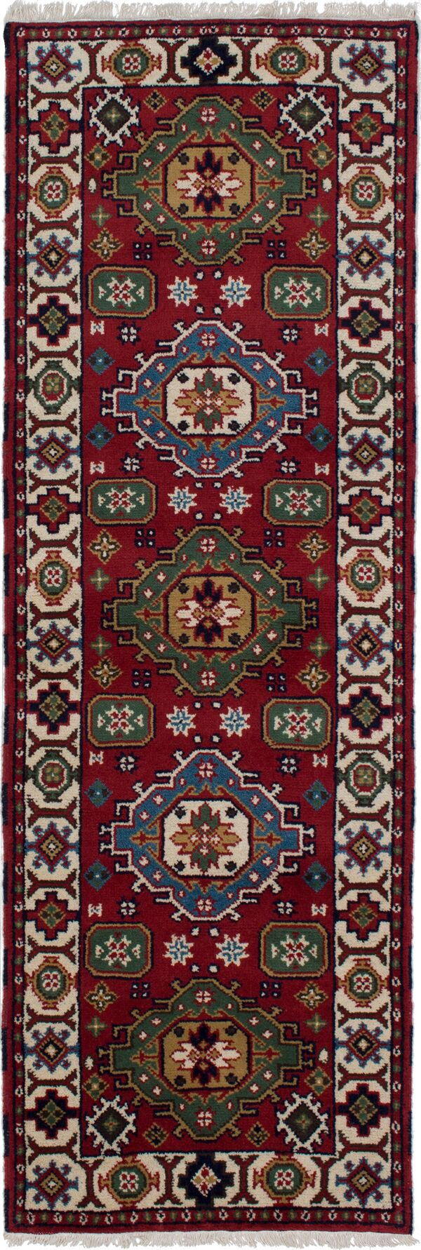 One-of-a-Kind Doering Hand-Knotted Wool Red Area Rug