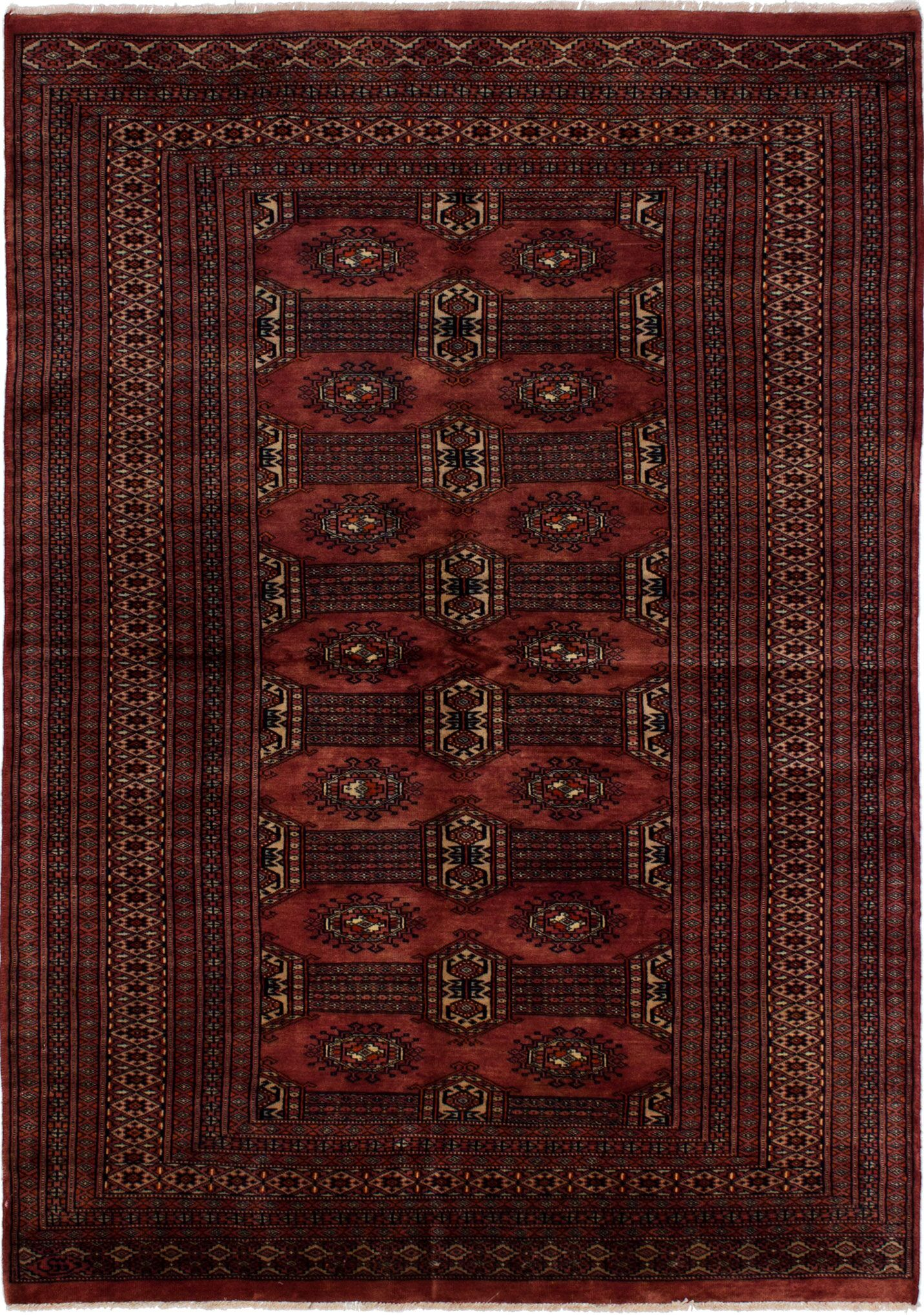 One-of-a-Kind Do Hand-Knotted Wool Dark Copper Area Rug