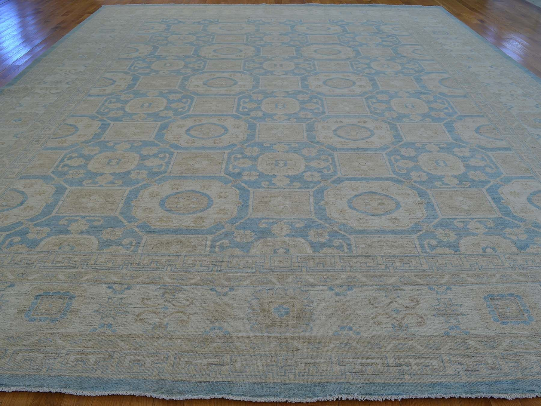 One-of-a-Kind Beauchemin Hand-Knotted Blue Wool Area Rug