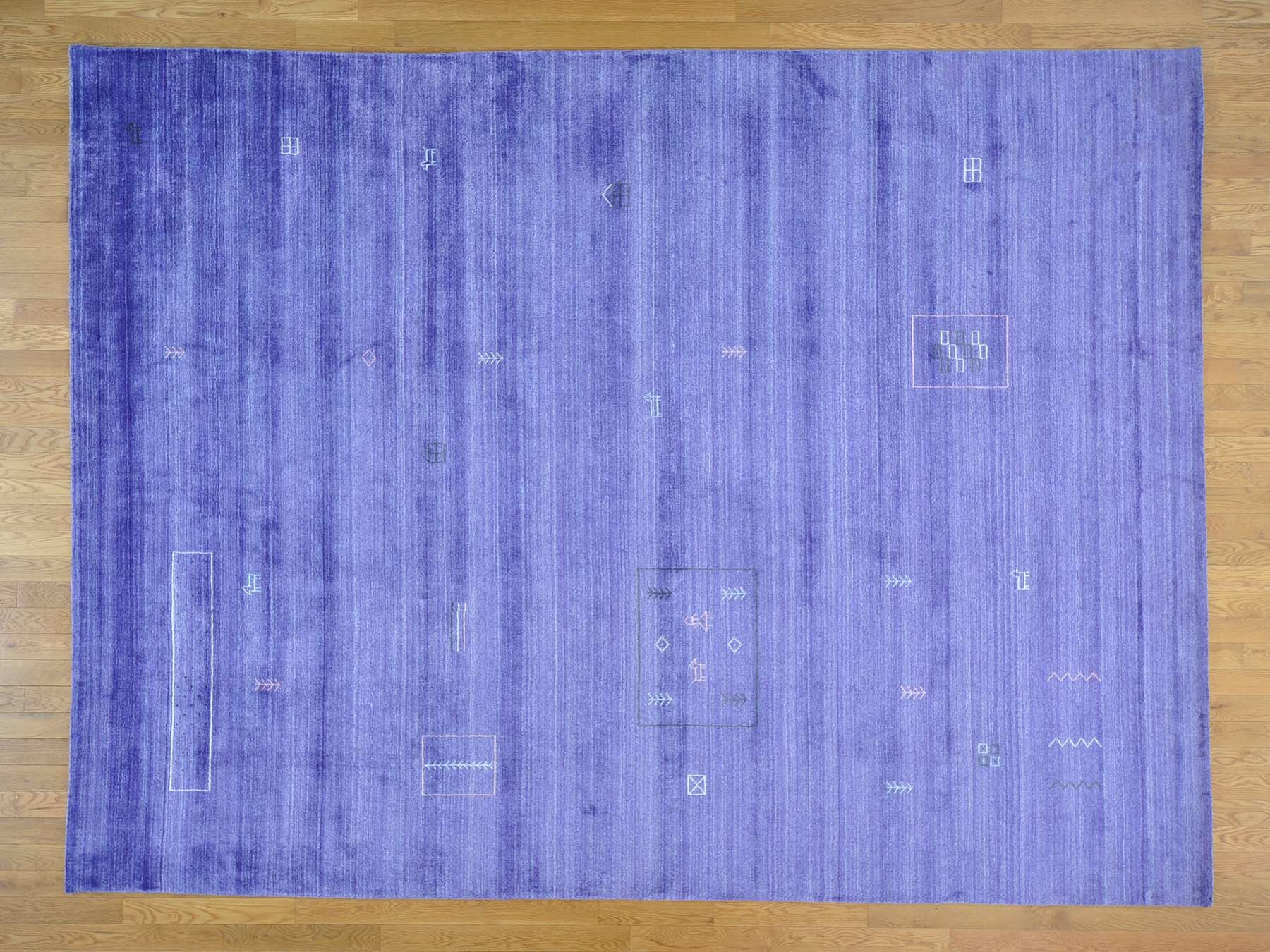 One-of-a-Kind Becker Art Handwoven Purple Silk Area Rug