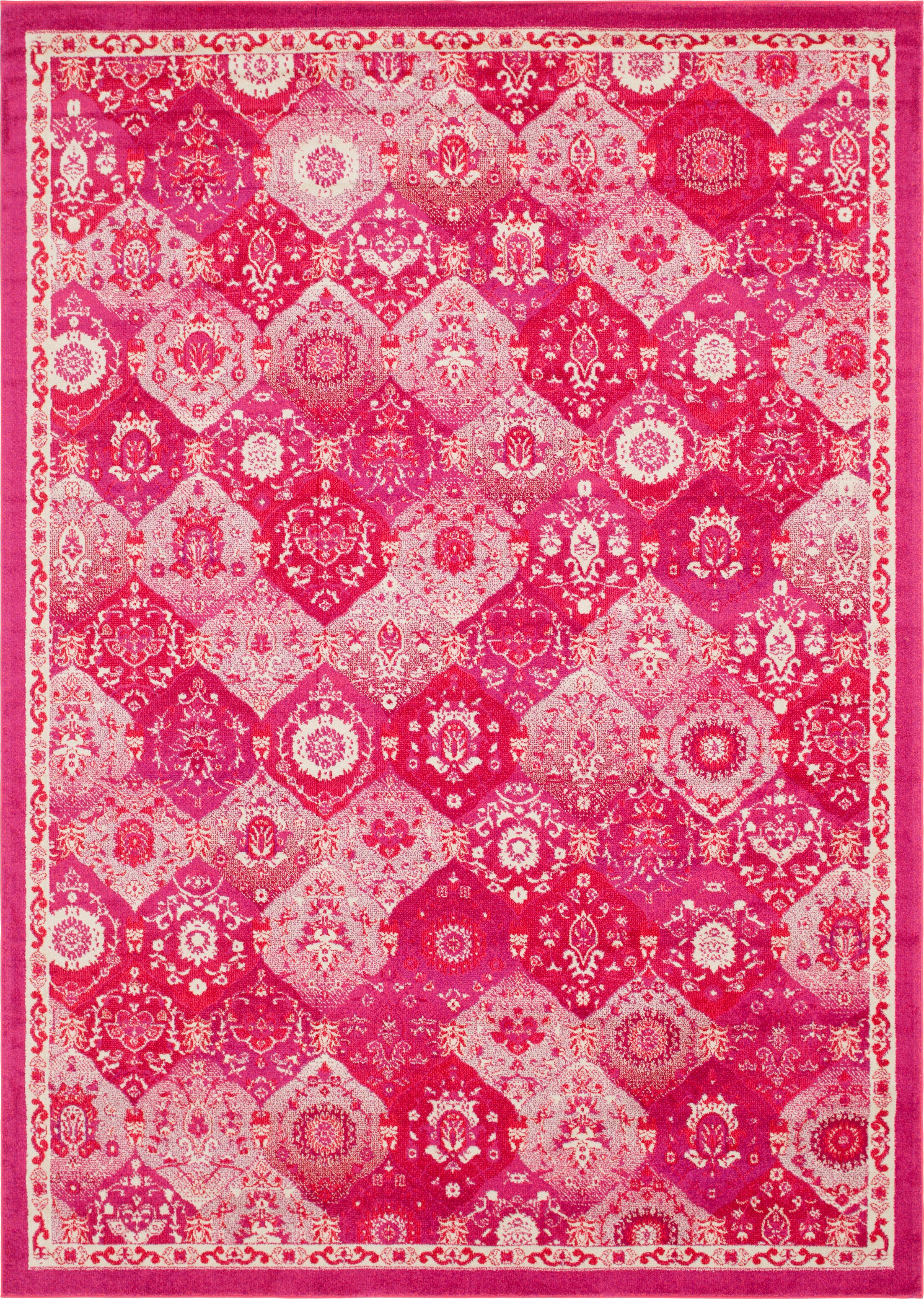 Ernst Magenta Area Rug Rug Size: Rectangle 10' x 14'