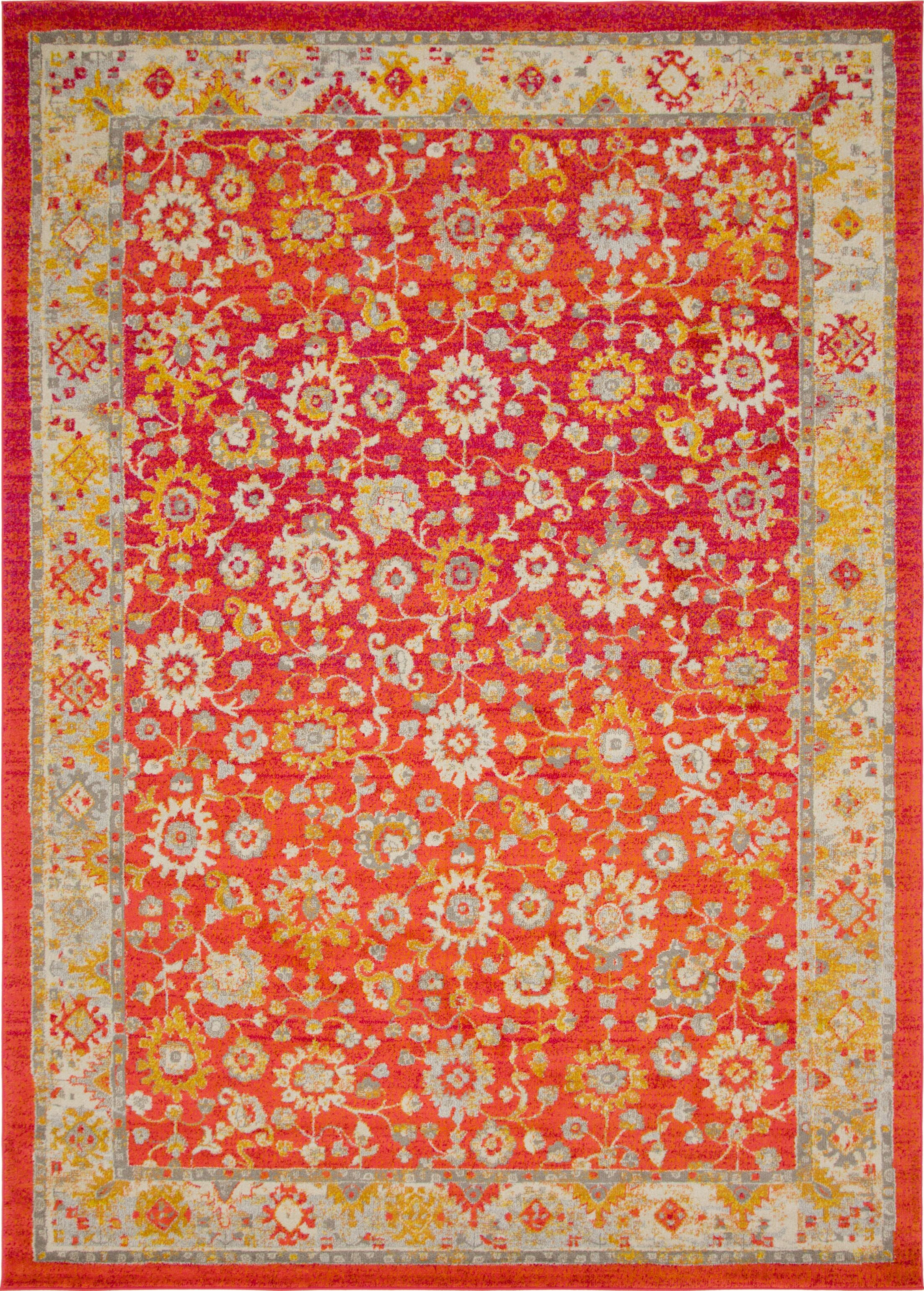 Ernst Rust Red/Gold Area Rug Rug Size: Rectangle 5'3